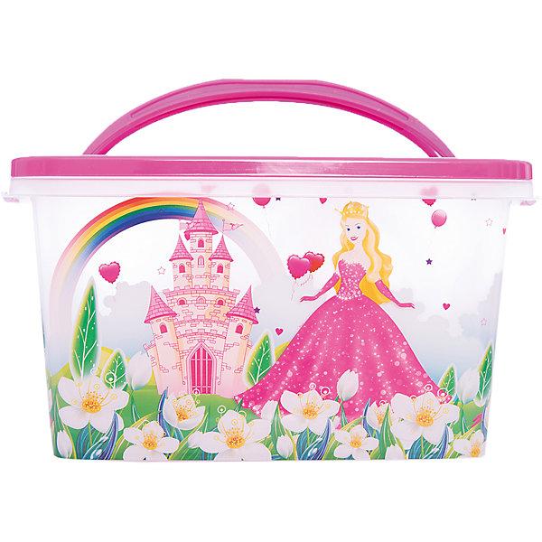 Контейнер Принцесса прямоугольный 7л. ,  AlternativaЯщики для игрушек<br>Принцесса - удобный и вместительный контейнер для девочки. Он выполнен из пластика, надежно закрывается крышкой и украшен рисунком с прекрасной принцессой. Отлично подойдет для хранения самых ценных вещей малышки.<br><br>Дополнительная информация:<br>Материал: пластик<br>Объем: 7 л<br>Размер:31х20,5х17 см<br><br>Контейнер Принцесса вы можете приобрести в нашем интернет-магазине.<br><br>Ширина мм: 310<br>Глубина мм: 210<br>Высота мм: 170<br>Вес г: 391<br>Возраст от месяцев: 36<br>Возраст до месяцев: 144<br>Пол: Унисекс<br>Возраст: Детский<br>SKU: 4979719