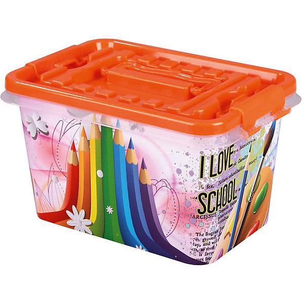 Контейнер Школьник 4л  ,  AlternativaЯщики для игрушек<br>Яркий контейнер Школьник по достоинству оценит каждый ребенок. Он изготовлен из пластика, очень вместительный и украшен ярким рисунком с карандашами и красками. Хранить свои школьные принадлежности в этом контейнере будет очень приятно!<br><br>Дополнительная информация:<br>Материал: пластик<br>Объем: 4л<br>Размер: 26х17х14 см<br><br>Вы можете приобрести контейнер Школьник в нашем интернет-магазине.<br><br>Ширина мм: 260<br>Глубина мм: 170<br>Высота мм: 140<br>Вес г: 275<br>Возраст от месяцев: 36<br>Возраст до месяцев: 144<br>Пол: Унисекс<br>Возраст: Детский<br>SKU: 4979726