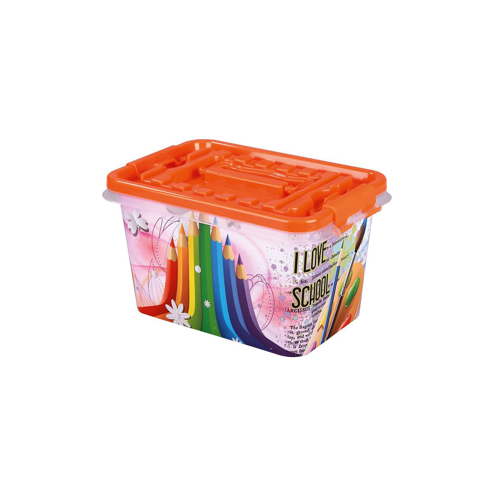 Контейнер Школьник 4л  ,  AlternativaПорядок в детской<br>Яркий контейнер Школьник по достоинству оценит каждый ребенок. Он изготовлен из пластика, очень вместительный и украшен ярким рисунком с карандашами и красками. Хранить свои школьные принадлежности в этом контейнере будет очень приятно!<br><br>Дополнительная информация:<br>Материал: пластик<br>Объем: 4л<br>Размер: 26х17х14 см<br><br>Вы можете приобрести контейнер Школьник в нашем интернет-магазине.<br><br>Ширина мм: 260<br>Глубина мм: 170<br>Высота мм: 140<br>Вес г: 275<br>Возраст от месяцев: 36<br>Возраст до месяцев: 144<br>Пол: Унисекс<br>Возраст: Детский<br>SKU: 4979726