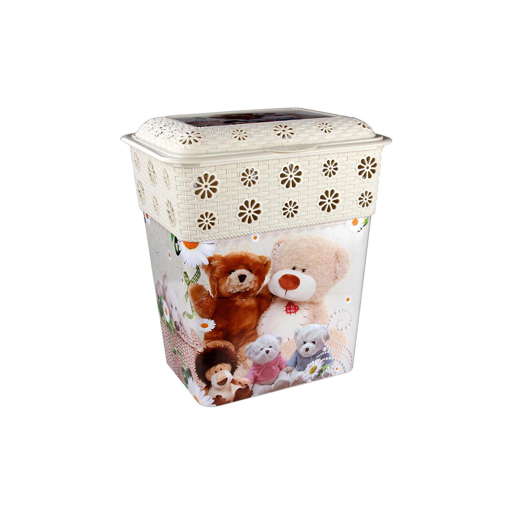 Корзина универсальная Детская мечта 60л.,  AlternativaКорзины для игрушек<br>Универсальная корзина Детская мечта достаточно вместительная для хранения различных мелочей и безделушек. Она закрывается крышкой и декорирована милым рисунком с медвежатами. Корзина с приятным дизайном прекрасно впишется в интерьер вашего дома!<br><br>Дополнительная информация:<br>Материал: пластик<br>Размер: 47х37х56 см<br>Объем: 60л<br><br>Корзину Детская мечта можно купить в нашем интернет-магазине.<br><br>Ширина мм: 470<br>Глубина мм: 370<br>Высота мм: 560<br>Вес г: 1745<br>Возраст от месяцев: 36<br>Возраст до месяцев: 144<br>Пол: Унисекс<br>Возраст: Детский<br>SKU: 4979743