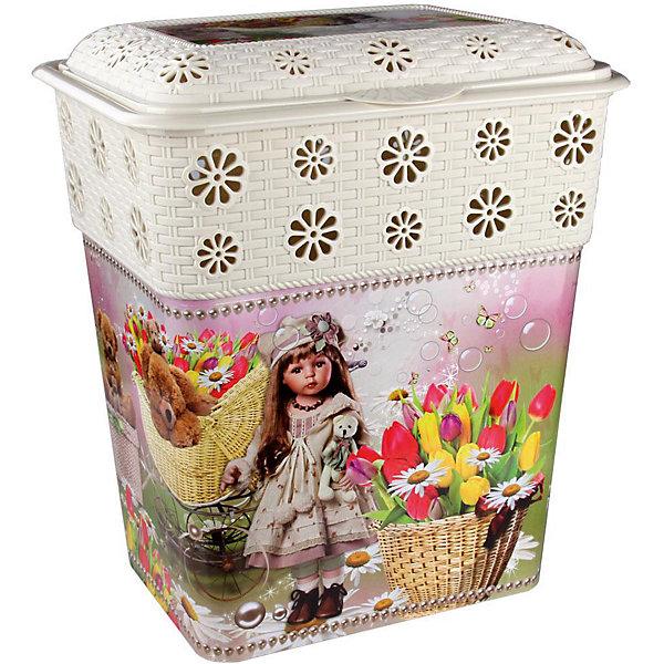 Корзина универсальная Юная красавица 60л.,  AlternativaКорзины для игрушек<br>Универсальная корзина Юная красавица достаточно вместительная для хранения различных мелочей и безделушек. Она закрывается крышкой и декорирована милым рисунком с девочкой, цветами и медвежатами. Корзина с приятным дизайном прекрасно впишется в интерьер вашего дома!<br><br>Дополнительная информация:<br>Материал: пластик<br>Размер: 47х37х56 см<br>Объем: 60л<br><br>Корзину Юная красавица можно купить в нашем интернет-магазине.<br>Ширина мм: 470; Глубина мм: 370; Высота мм: 560; Вес г: 1745; Возраст от месяцев: 36; Возраст до месяцев: 144; Пол: Унисекс; Возраст: Детский; SKU: 4979745;