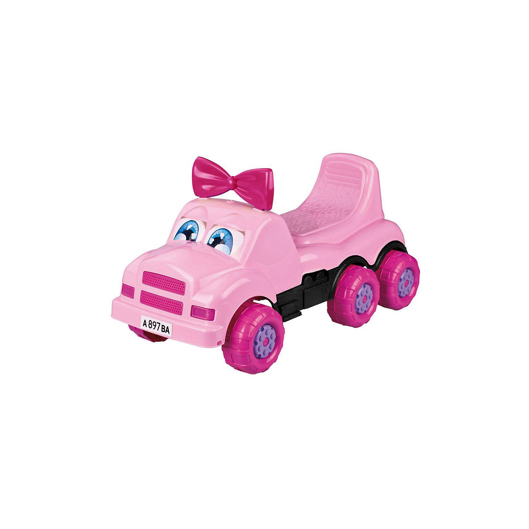 Машинка детская Веселые гонки ,  Alternativa, розовыйИзумительная машинка Веселые гонки изготовлена из прочного пластика и способна покатать ребенка и кукол. У машинки есть удобное сидение и шесть колес. Красивые глазки и очаровательный бантик непременно понравятся девочке.<br><br>Дополнительная информация:<br>Материал: пластик<br>Цвет: розовый<br>Размер: 69,5х29х33,5 см<br><br>Вы можете купить машинку Веселые гонки в нашем интернет-магазине.<br><br>Ширина мм: 695<br>Глубина мм: 290<br>Высота мм: 335<br>Вес г: 2148<br>Возраст от месяцев: 36<br>Возраст до месяцев: 144<br>Пол: Унисекс<br>Возраст: Детский<br>SKU: 4979754