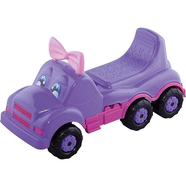 Машинка детская Весёлые гонки ,  Alternativa, фиолет.Машинки-каталки<br>Изумительная машинка Веселые гонки изготовлена из прочного пластика и способна покатать ребенка и кукол. У машинки есть удобное сидение и шесть колес. Красивые глазки и очаровательный бантик непременно понравятся девочке.<br><br>Дополнительная информация:<br>Материал: пластик<br>Цвет: фиолетовый<br>Размер: 69,5х29х33,5 см<br><br>Вы можете купить машинку Веселые гонки в нашем интернет-магазине.<br>Ширина мм: 695; Глубина мм: 290; Высота мм: 335; Вес г: 2148; Возраст от месяцев: 36; Возраст до месяцев: 144; Пол: Унисекс; Возраст: Детский; SKU: 4979755;