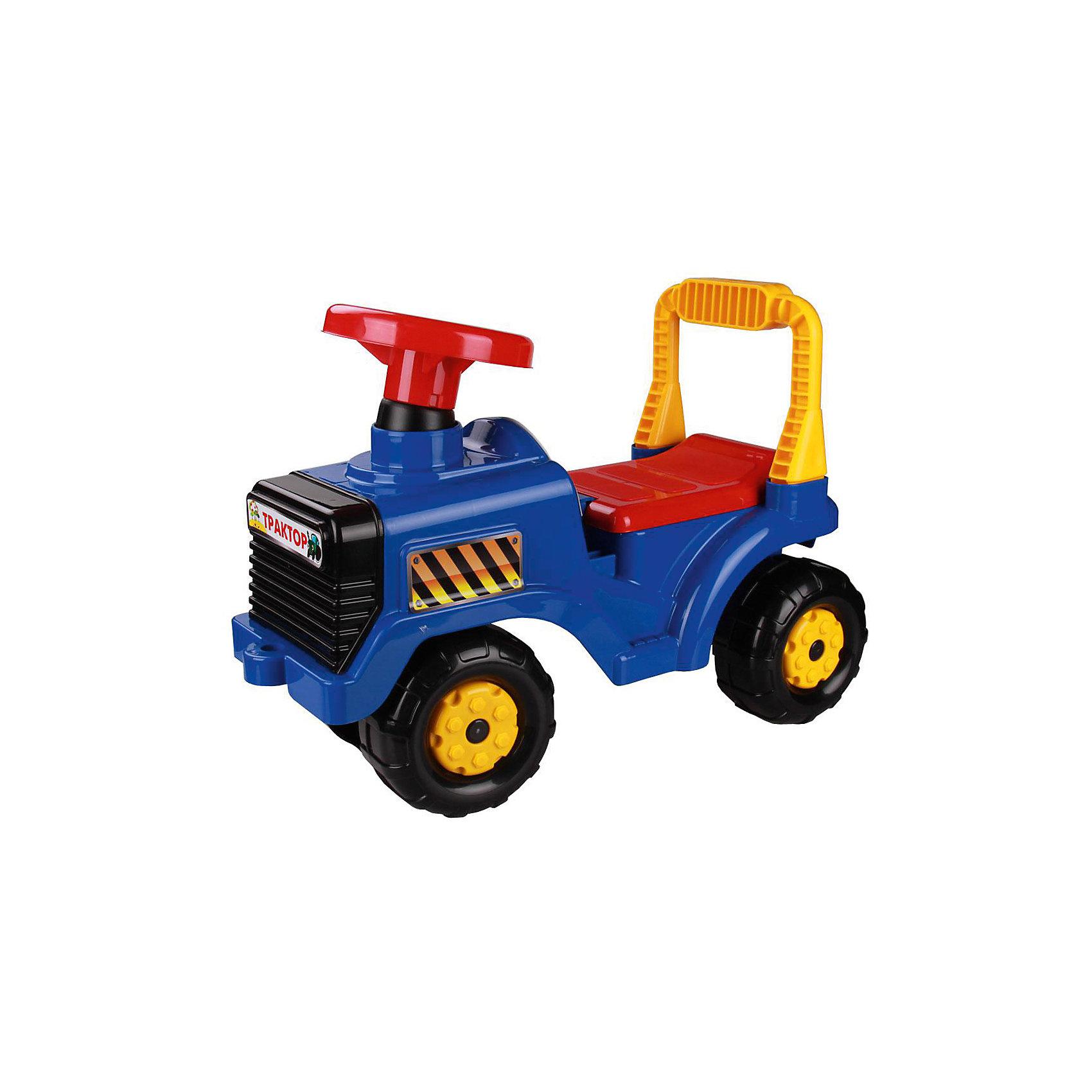 Машинка детская Трактор ,  Alternativa, синийМашинки-каталки<br>Детская машинка Трактор изготовлена из пластика и имеет очень приятный дизайн. У трактора есть большой руль, четыре крупных колеса и удобная спинка-ручка. Такая яркая машинка обязательно понравится мальчику!<br><br>Дополнительная информация:<br>Материал: пластик<br>Цвет: синий<br>Размер: 57х27х42 см<br><br>Машинку Трактор можно купить в нашем интернет-магазине.<br><br>Ширина мм: 0<br>Глубина мм: 0<br>Высота мм: 0<br>Вес г: 18<br>Возраст от месяцев: 36<br>Возраст до месяцев: 144<br>Пол: Унисекс<br>Возраст: Детский<br>SKU: 4979759