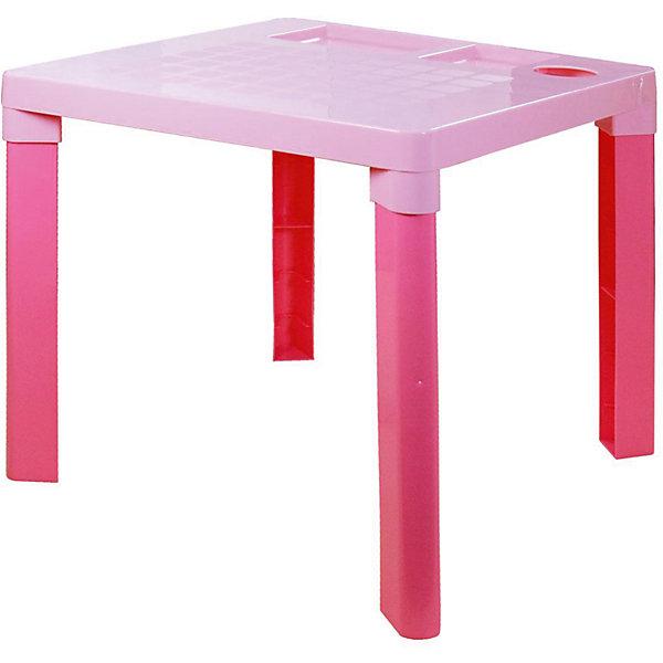 Стол детский ,  Alternativa, розовыйДетские столы и стулья<br>Этот детский стол - идеальный вариант для письменных занятий. Стол очень устойчивый и прочный, с него удобно оттирать краску или пластилин. Кроме того, он имеет 3 углубления, которые можно использовать для стаканчика с карандашами и других письменных принадлежностей. Замечательный выбор для ребенка!<br><br>Дополнительная информация:<br>Материал: пластик<br>Цвет: розовый<br>Размеры: 51,5х51,5х47,5 см<br><br>Детский стол можно приобрести в нашем интернет-магазине.<br><br>Ширина мм: 515<br>Глубина мм: 515<br>Высота мм: 475<br>Вес г: 1499<br>Возраст от месяцев: 36<br>Возраст до месяцев: 144<br>Пол: Унисекс<br>Возраст: Детский<br>SKU: 4979775