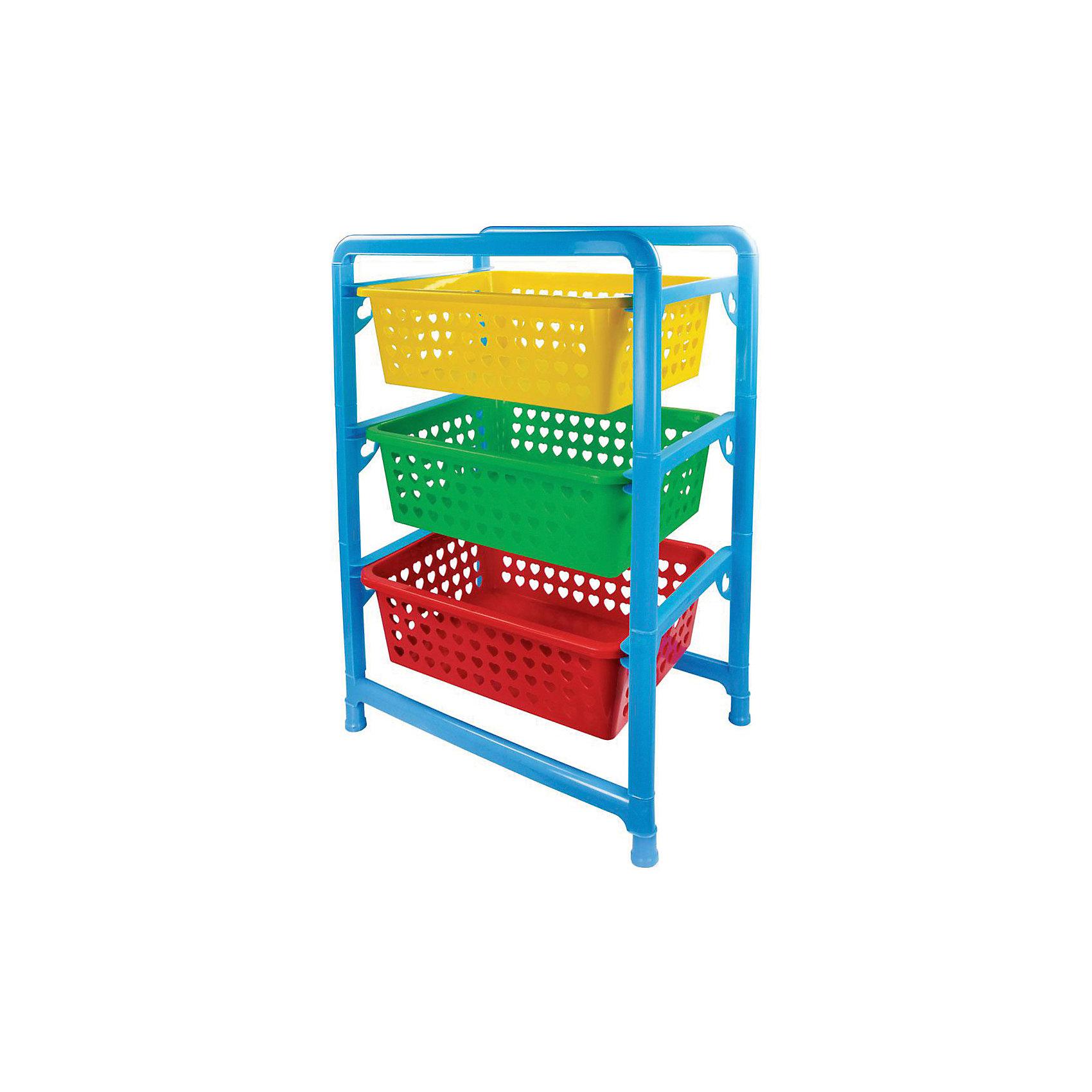 Этажерка для игрушек 3-х секц. ,  AlternativaПорядок в детской<br>Этажерка для игрушек имеет 3 секции разных цветов, которые легко достать при необходимости. Ребенку будет удобно рассортировать свои игрушки по разным секциям. А благодаря яркому дизайну, собирать игрушки будет весело и интересно!<br><br>Дополнительная информация:<br>Материал: пластик<br>Размеры: 45х31х64 см<br><br>Этажерку для игрушек вы можете приобрести в нашем интернет-магазине.<br><br>Ширина мм: 450<br>Глубина мм: 310<br>Высота мм: 640<br>Вес г: 1375<br>Возраст от месяцев: 36<br>Возраст до месяцев: 144<br>Пол: Унисекс<br>Возраст: Детский<br>SKU: 4979806
