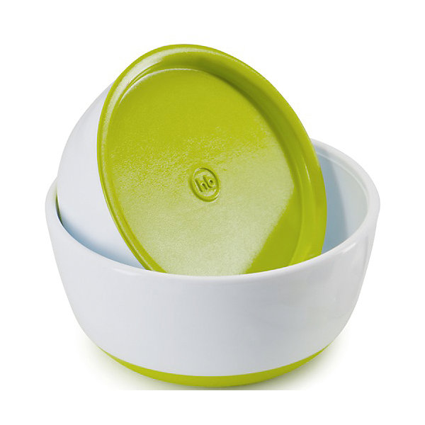 Набор тарелок с крышкой, Happy Baby, зеленый