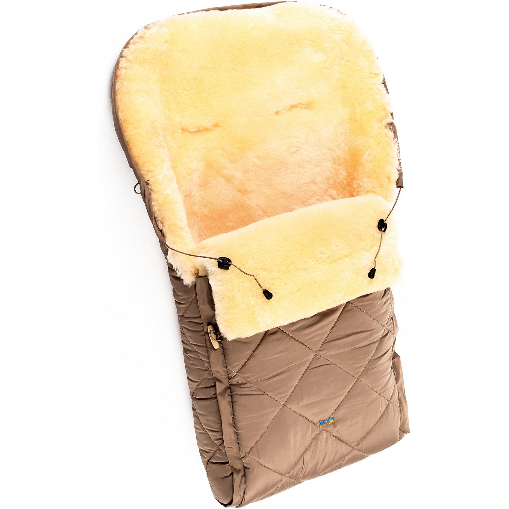 Конверт в коляску натур овчина, Ramili, бежевыйЗимние конверты<br>Конверт в коляску натур овчина, Ramili, красный изготовлен по британской технологии с соблюдением всех норм и требований к безопасности для изделий, предназначенных для новорожденных. Верх конверта выполнен из плащевой ткани, которая обеспечивает защиту от ветра и влаги, при этом обладает высокими износоустойчивыми свойствами; внутренняя часть – из натуральной овчины, выделанной по специализированной технологии обработки, при которой не используются красители и химические вещества. При этом при обработке сохраняются свойства натуральной овчины и завиток, который обеспечивает повышенные теплоизоляционные свойства. Изделие обладает высокими гипоаллергенными свойствами. Конверт удобен в использовании: сбоку имеется молния,егивании которой, конверт делится на две части, это позволяет его использовать и как коврик в санки или на пол для игр ребенка; Сверху предусмотрена стяжка, благодаря которой верхняя часть стягивается в капюшон. Конверт выполнен в ярком цвете, что позволит его использовать для выписки в зимнее время.<br>Конверт в коляску натур овчина, Ramili, красный – это качественные, комфортные и многофункциональные изделия для самых маленьких!<br><br>Характеристики:<br>Сезон: зима<br>Cостав: верх конверта – полиэстер, меховой подклад – овчина, 100%<br>Размеры конверта (Д*Ш): 95*45 см<br>Верх стягивается в капюшон<br>Наличие застежки-молнии<br>Предусмотрены прорези для ремней безопасности<br>Трансформируется в коврик<br>Уход: машинная стирка при температуре не более 40 градусов<br><br>Конверт в коляску натур овчина, Ramili, красный можно купить в нашем интернет-магазине.<br><br>Ширина мм: 900<br>Глубина мм: 600<br>Высота мм: 200<br>Вес г: 1000<br>Цвет: бежевый<br>Возраст от месяцев: 0<br>Возраст до месяцев: 12<br>Пол: Унисекс<br>Возраст: Детский<br>SKU: 4980604