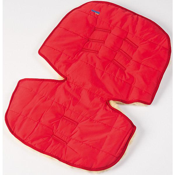 Меховой коврик для коляски и автокресла,  Ramili, красный