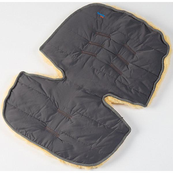 Меховой коврик для коляски и автокресла,  Ramili, серыйАксессуары для колясок<br>Характеристики:<br><br>• Предназначение: для прогулок, для игр<br>• Сезон: зима<br>• Пол: универсальный<br>• Цвет: серый<br>• Коллекция: Classic <br>• Состав: овчина, 100%<br>• Предусмотрены прорези для ремней безопасности<br>• Размеры конверта (Д*Ш): 70*30 см<br>• Вес с упаковкой: 2 кг <br>• Уход: машинная стирка при температуре не более 40 градусов<br><br>Меховой коврик для коляски и автокресла, Ramili, серый изготовлен по британской технологии с соблюдением всех норм и требований к безопасности для изделий, предназначенных для новорожденных.Тыльная сторона коврика выполнена из плащевой ткани, которая обеспечивает защиту от ветра и влаги, при этом обладает высокими износоустойчивыми свойствами; внешняя часть – из натуральной овчины, выделанной по специализированной технологии обработки, при которой не используются красители и химические вещества. При этом при обработке сохраняются свойства натуральной овчины и завиток, который обеспечивает повышенные теплоизоляционные свойства. Изделие обладает высокими гипоаллергенными свойствами. Коврик имеет уникальную форму, благодаря чему он подходит практически для всех моделей колясок и автокресел. Также его можно использовать для игр ребенка на полу.<br>Меховой коврик для коляски и автокресла, Ramili, серый – это качественные, комфортные и многофункциональные изделия для самых маленьких!<br><br>Меховой коврик для коляски и автокресла, Ramili, серый можно купить в нашем интернет-магазине.<br>Ширина мм: 700; Глубина мм: 500; Высота мм: 50; Вес г: 500; Возраст от месяцев: 0; Возраст до месяцев: 12; Пол: Унисекс; Возраст: Детский; SKU: 4980608;