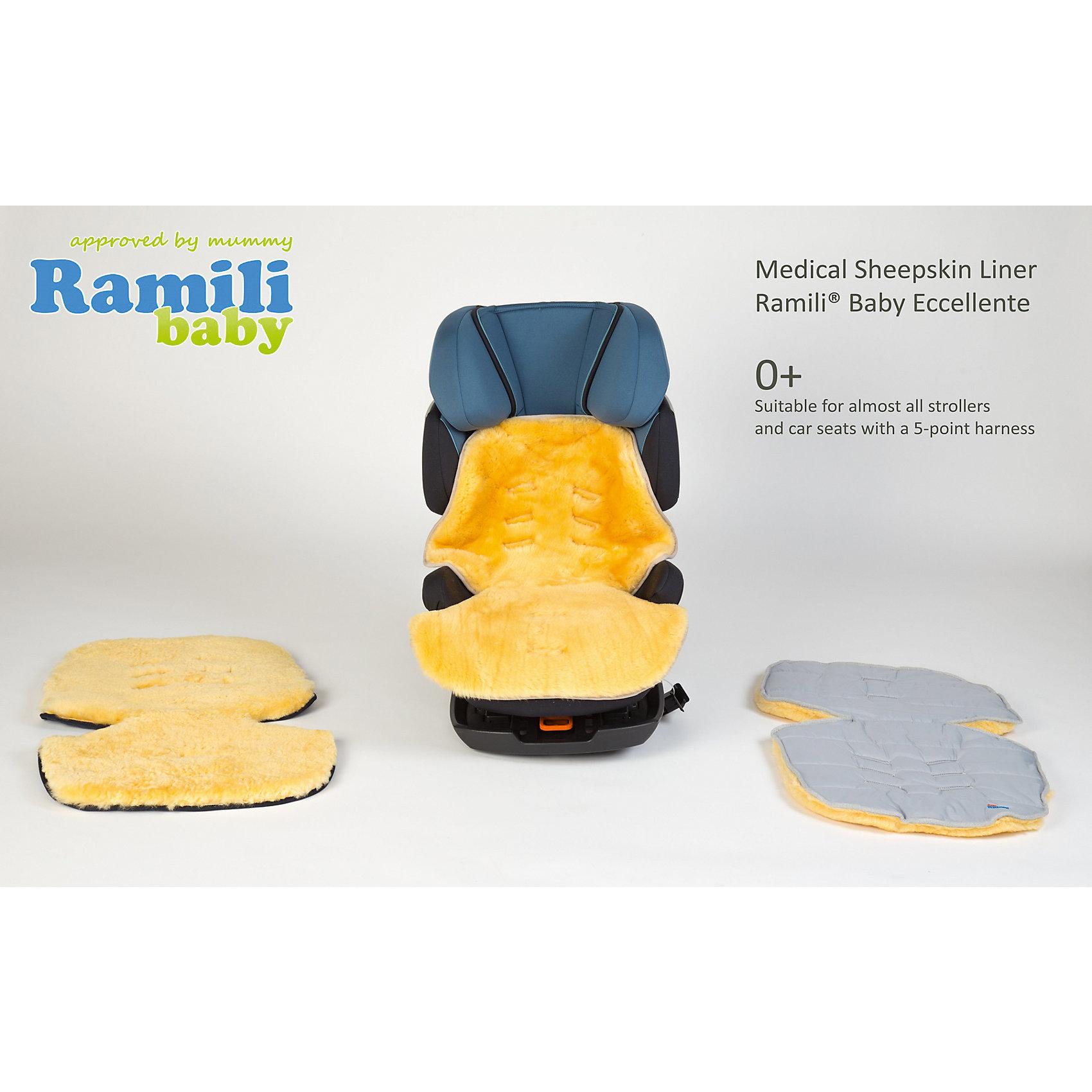 Меховой коврик для коляски и автокресла,  Ramili, серый