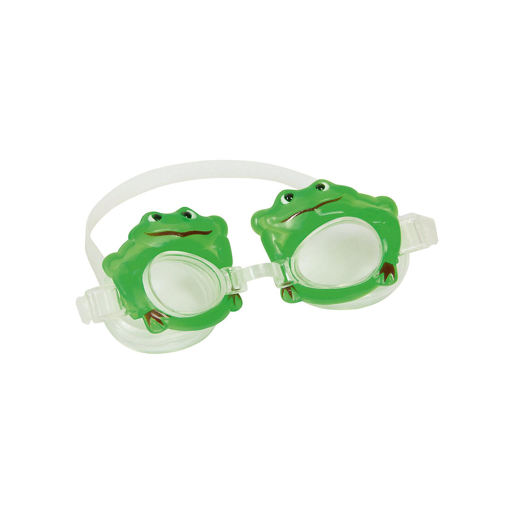 Очки для плавания детские, Bestway, зелёныеДетские очки для плавания морские животные, Bestway, замечательно подойдут тем, кто только учится плавать. Очки выполнены в оригинальном дизайне в форме морских обитателей. Качественный ударопрочный материал не раздражает кожу и полностью безопасен для детского<br>здоровья. Очки оснащены линзами со специальным покрытием для предотвращения запотевания, плотно прилегают к лицу и надёжно фиксируются регулируемым ремешком. Оправа из гипоаллергенного и мягкого на ощупь термопластика обеспечивают комфорт во время использования. В ассортименте 4 дизайна в виде морских животных. Подходит для детей от 3 лет.<br><br>Дополнительная информация:<br><br>- Материал: поликарбонат, резина/латекс.<br>- Размер упаковки: 20 х 10 х 3 см.<br>- Вес: 17 гр.<br><br>Очки для плавания детские, морские животные в ассортименте, Bestway, можно купить в нашем интернет-магазине.<br><br>ВНИМАНИЕ! Данный артикул имеется в наличии в разных вариантах исполнения. Заранее выбрать определенный вариант нельзя. При заказе нескольких наборов возможно получение одинаковых.<br><br>Ширина мм: 205<br>Глубина мм: 168<br>Высота мм: 36<br>Вес г: 71<br>Возраст от месяцев: 36<br>Возраст до месяцев: 2147483647<br>Пол: Унисекс<br>Возраст: Детский<br>SKU: 4980619