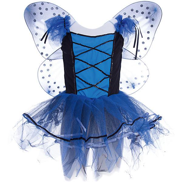 Маскарадный костюм (на рост 125 см)Для девочек<br>Новый год - время волшебства и чудес! Позвольте вашей девочке почувствовать себя очаровательной и легкой феей-бабочкой.<br>Оригинальный костюм состоит из платья с пышной летящей юбкой и лифом на шнуровке, ободка с рожками и крыльев. Маскарадный костюм выполнен из высококачественных материалов, в производстве которых были использованы только безопасные экологичные красители. <br><br>Дополнительная информация:<br><br>- Материал: полиэстер, трикотаж.<br>- Размер: на рост 125 см; ОГ 65 см, ОТ 57 см. <br>- Возраст: 6-8 лет.<br>- Комплектация: платье, ободок с рожками, крылья.  <br><br>Маскарадный костюм (на рост 125 см) можно купить в нашем магазине.<br><br>Ширина мм: 190<br>Глубина мм: 240<br>Высота мм: 190<br>Вес г: 280<br>Возраст от месяцев: 84<br>Возраст до месяцев: 96<br>Пол: Женский<br>Возраст: Детский<br>SKU: 4981293