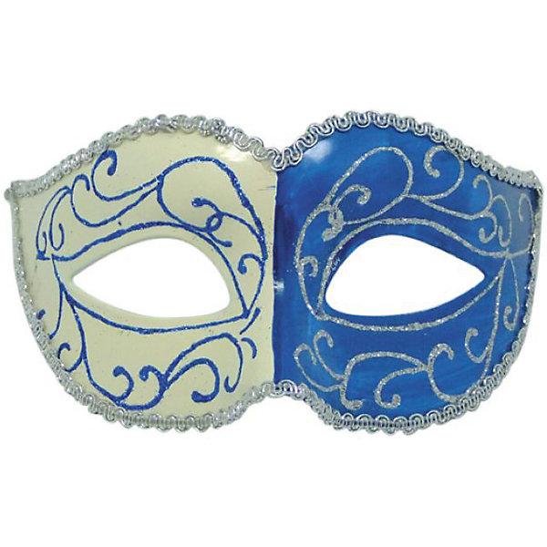 Карнавальная маска ДвуликаяНовогодние маски<br>Карнавальная маска - отличный новогодний аксессуар. Блестящая маска подойдет к любому наряду и эффектно дополнит праздничный образ. <br><br>Дополнительная информация:<br><br>- Материал: пластик. <br>- Размер: 15,6х10,3х7,5 см.<br>- Украшена глиттером. <br>- Крепится с помощью атласной ленты. <br><br>Карнавальную маску Двуликая можно купить в нашем магазине.<br>Ширина мм: 190; Глубина мм: 100; Высота мм: 10; Вес г: 28; Возраст от месяцев: 36; Возраст до месяцев: 2147483647; Пол: Унисекс; Возраст: Детский; SKU: 4981295;