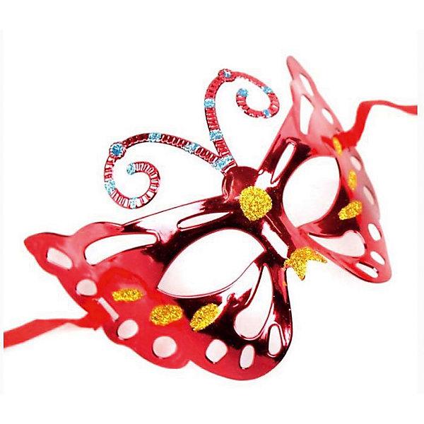 Маскарадная маска КраснаяДетские карнавальные маски<br>Маскарадная маска - отличный новогодний аксессуар! Блестящая маска подойдет к любому наряду и эффектно дополнит праздничный образ. <br><br>Дополнительная информация:<br><br>- Материал: ПВХ. <br>- Размер: 22х14 см.<br>- Крепится с помощью атласной ленты. <br><br>Маскарадную маску Красную можно купить в нашем магазине.<br><br>Ширина мм: 220<br>Глубина мм: 130<br>Высота мм: 10<br>Вес г: 28<br>Возраст от месяцев: 36<br>Возраст до месяцев: 2147483647<br>Пол: Унисекс<br>Возраст: Детский<br>SKU: 4981300