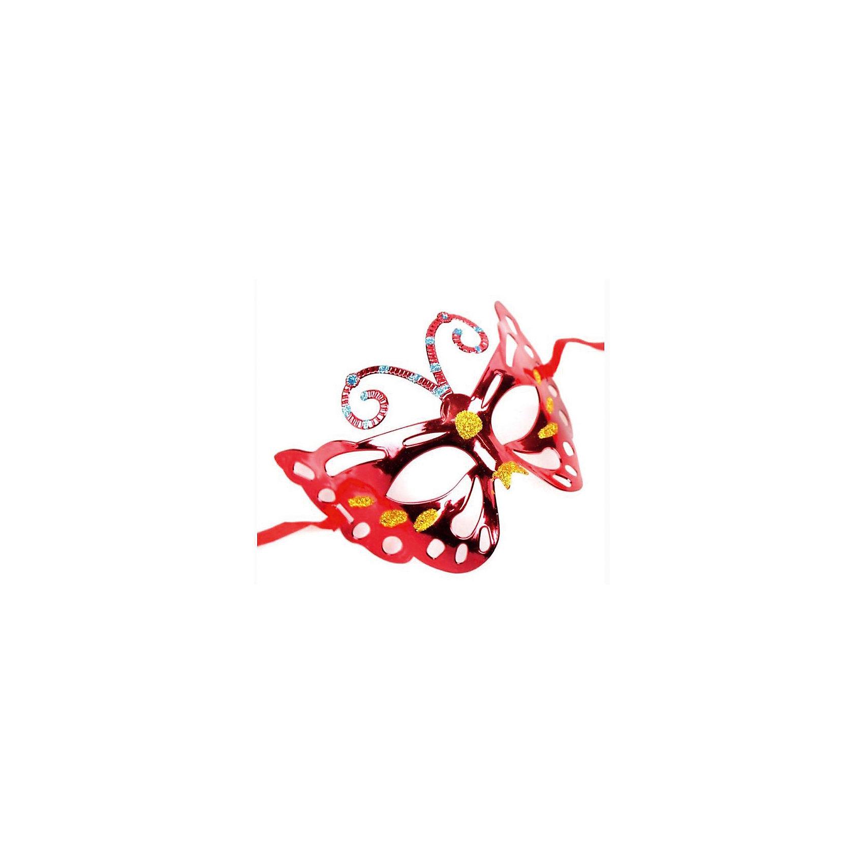 Маскарадная маска КраснаяМаскарадная маска - отличный новогодний аксессуар! Блестящая маска подойдет к любому наряду и эффектно дополнит праздничный образ. <br><br>Дополнительная информация:<br><br>- Материал: ПВХ. <br>- Размер: 22х14 см.<br>- Крепится с помощью атласной ленты. <br><br>Маскарадную маску Красную можно купить в нашем магазине.<br><br>Ширина мм: 220<br>Глубина мм: 130<br>Высота мм: 10<br>Вес г: 28<br>Возраст от месяцев: 36<br>Возраст до месяцев: 2147483647<br>Пол: Унисекс<br>Возраст: Детский<br>SKU: 4981300