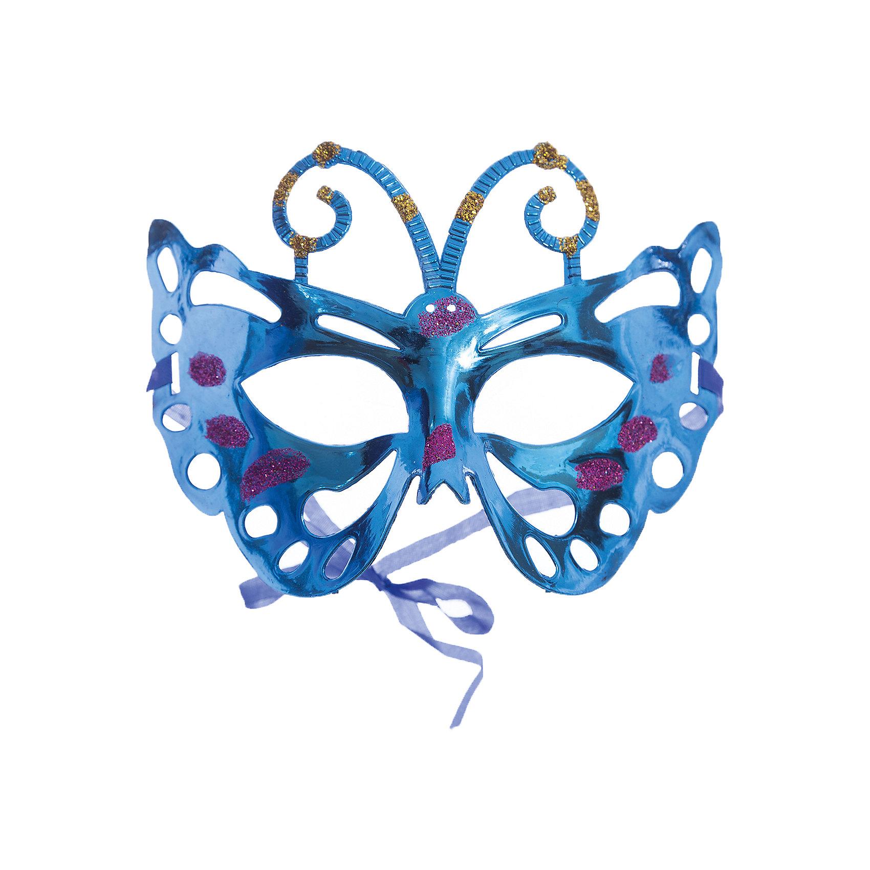 Маскарадная маска СиняяМаскарадная маска - отличный новогодний аксессуар! Блестящая маска подойдет к любому наряду и эффектно дополнит праздничный образ. <br><br>Дополнительная информация:<br><br>- Материал: ПВХ. <br>- Размер: 22х14 см.<br>- Крепится с помощью атласной ленты. <br><br>Маскарадную маску Синюю можно купить в нашем магазине.<br><br>Ширина мм: 220<br>Глубина мм: 130<br>Высота мм: 10<br>Вес г: 28<br>Возраст от месяцев: 36<br>Возраст до месяцев: 2147483647<br>Пол: Унисекс<br>Возраст: Детский<br>SKU: 4981301