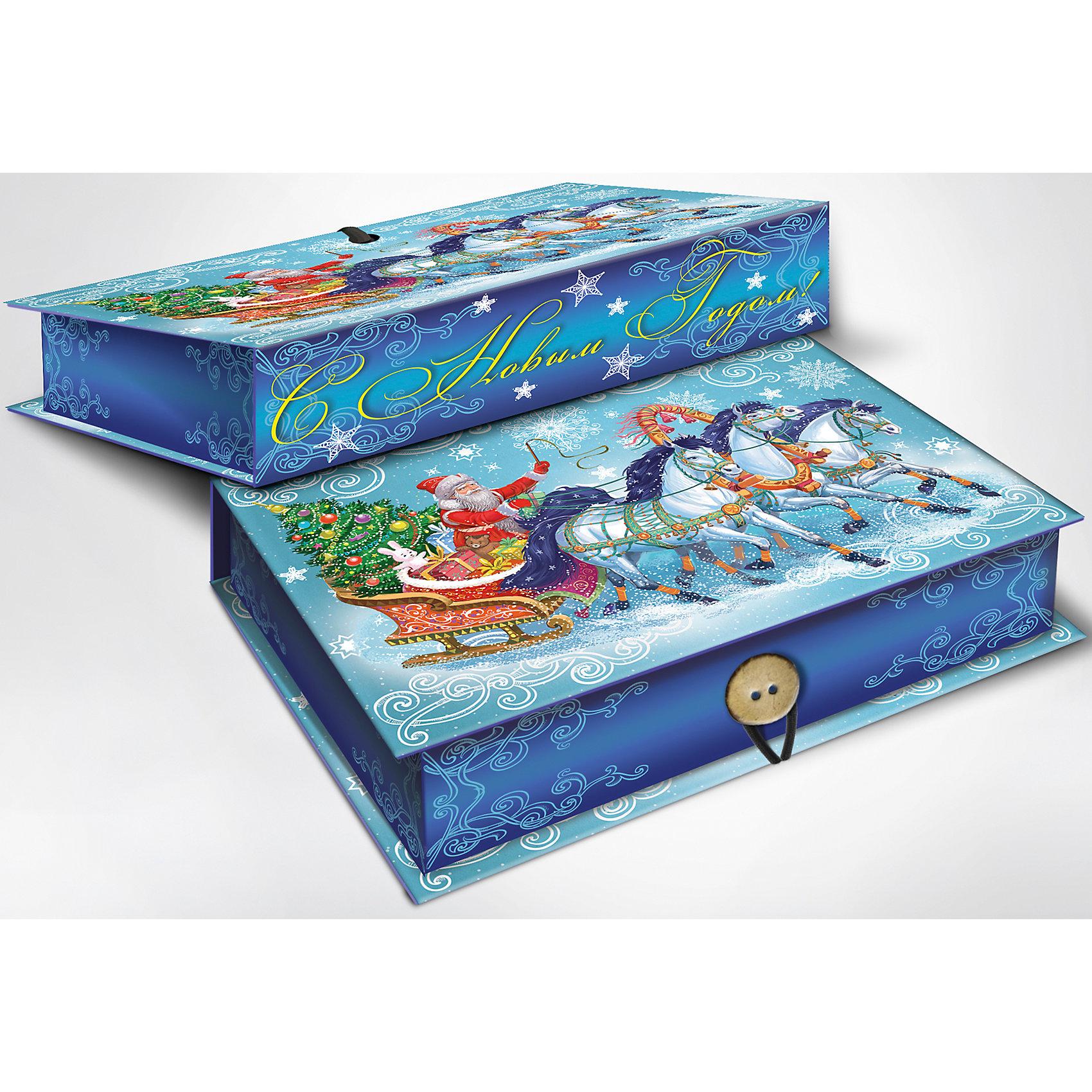 Magic Time Подарочная коробка Дед Мороз на тройке 20*14*6 см украшение новогоднее оконное magic time дед мороз на тройке 54 х 21 см