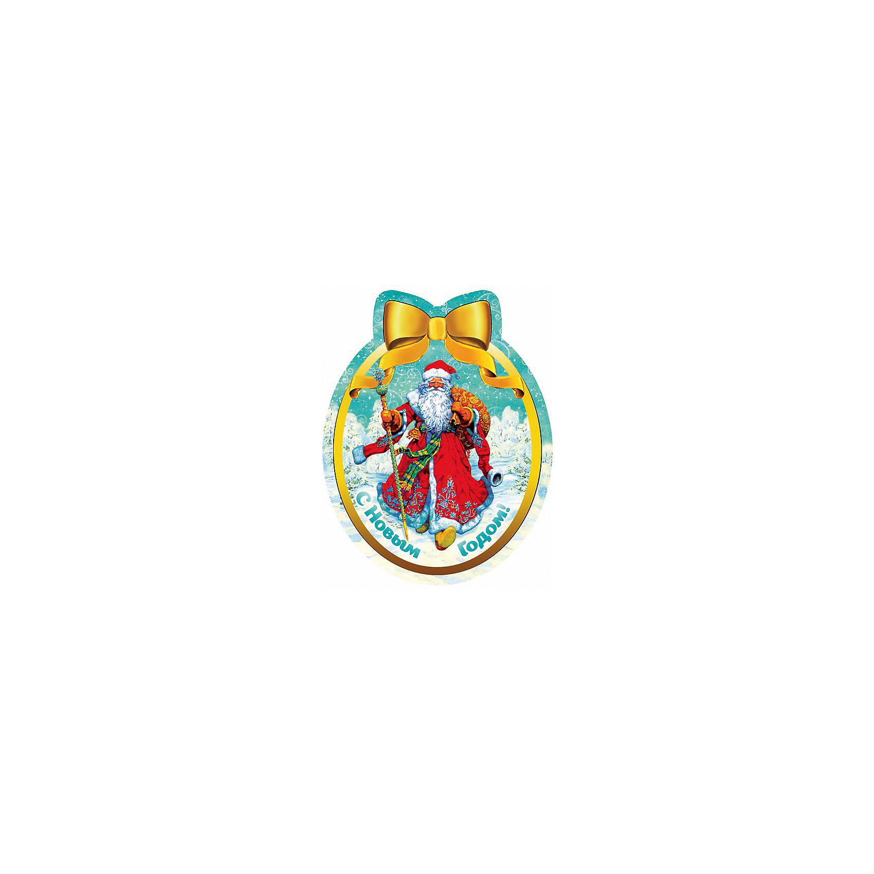 Magic Time Новогодний магнит Дед Мороз в красном кафтане magic time магнит дед мороз и дети