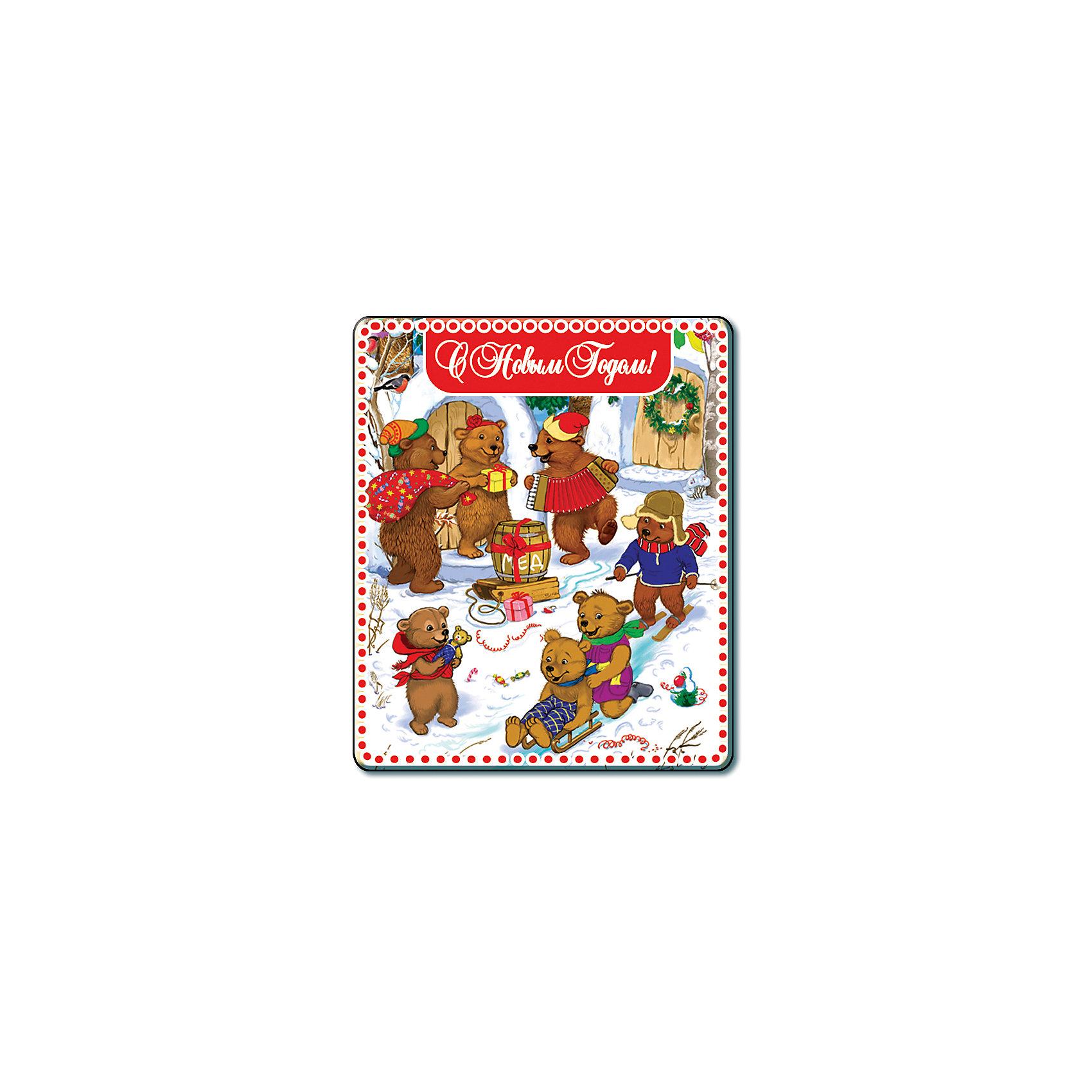 Магнит МедвежатаНовогодние сувениры<br>Яркий магнит с новогодней символикой - прекрасный вариант для праздничного сувенира. Магнит можно прикрепить на любую металлическую поверхность, он всегда будет радовать, напоминая о веселом и таком долгожданном для всех празднике! <br><br>Дополнительная информация:<br><br>- Материал: агломерированный феррит. <br>- Размер: 5х6 см.<br>- Яркий привлекательный дизайн. <br><br>Новогодний магнит Медвежата можно купить в нашем магазине.<br><br>Ширина мм: 100<br>Глубина мм: 100<br>Высота мм: 10<br>Вес г: 260<br>Возраст от месяцев: 36<br>Возраст до месяцев: 2147483647<br>Пол: Унисекс<br>Возраст: Детский<br>SKU: 4981317