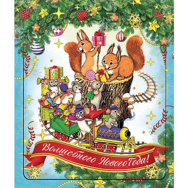 Магнит Паровозик и мышатаНовогодние сувениры<br>Яркий магнит с новогодней символикой - прекрасный вариант для праздничного сувенира. Магнит можно прикрепить на любую металлическую поверхность, он всегда будет радовать, напоминая о веселом и таком долгожданном для всех празднике! <br><br>Дополнительная информация:<br><br>- Материал: агломерированный феррит. <br>- Размер: 5х6 см.<br>- Яркий привлекательный дизайн. <br><br>Новогодний магнит Паровозик и мышата можно купить в нашем магазине.<br><br>Ширина мм: 100<br>Глубина мм: 100<br>Высота мм: 10<br>Вес г: 260<br>Возраст от месяцев: 36<br>Возраст до месяцев: 2147483647<br>Пол: Унисекс<br>Возраст: Детский<br>SKU: 4981319