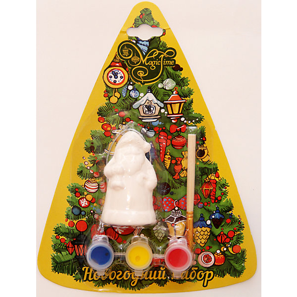 Набор для творчества Дед мороз с колокольчикомНаборы для раскрашивания<br>Набор для творчества Дед Мороз с колокольчиком включает в себя все для создания оригинальной новогодней поделки. Яркие краски хорошо ложатся на поверхность фигурки и быстро сохнут. Фигурка, раскрашенная своими руками станет прекрасным украшением новогодней елки. Отличный вариант для новогоднего подарка! <br><br>Дополнительная информация:<br><br>- Материал: доломитовая керамика, акварельные краски, пластик. <br>- Размер: 4х3,2х7,5 см. <br>- Комплектация: фигурка, кисть, краски (3 цвета). <br><br>Набор для творчества Дед мороз с колокольчиком можно купить в нашем магазине.<br>Ширина мм: 40; Глубина мм: 32; Высота мм: 75; Вес г: 450; Возраст от месяцев: 36; Возраст до месяцев: 2147483647; Пол: Унисекс; Возраст: Детский; SKU: 4981326;