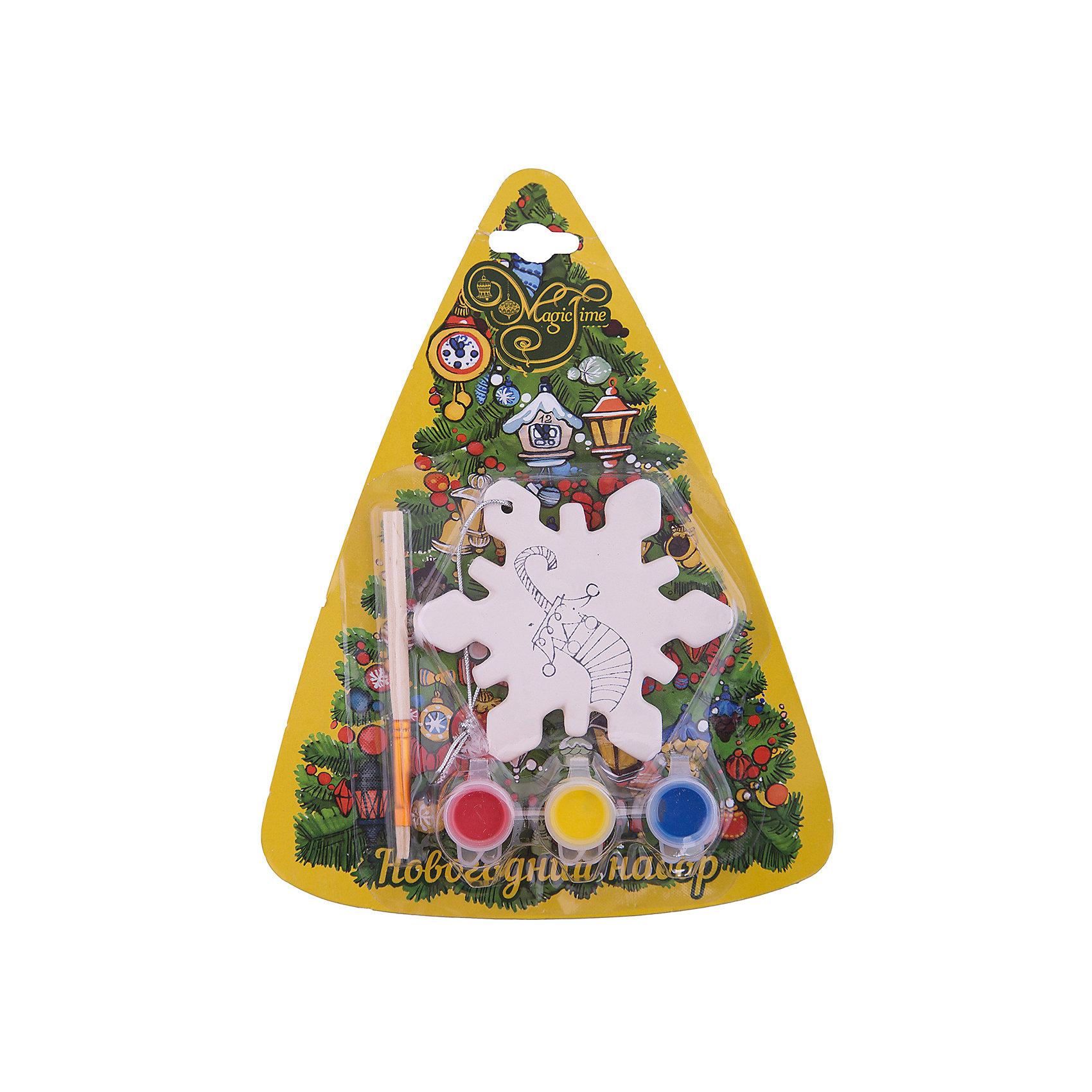 Набор для творчества СнежинкаНабор для творчества Снежинка включает в себя все для создания оригинальной новогодней поделки. Яркие краски хорошо ложатся на поверхность фигурки и быстро сохнут. Фигурка, раскрашенная своими руками станет прекрасным украшением новогодней елки. Отличный вариант для новогоднего подарка! <br><br>Дополнительная информация:<br><br>- Материал: доломитовая керамика, акварельные краски, пластик. <br>- Размер: 9х1х9 см. <br>- Комплектация: фигурка, кисть, краски (3 цвета). <br><br>Набор для творчества Снежинка можно купить в нашем магазине.<br><br>Ширина мм: 40<br>Глубина мм: 32<br>Высота мм: 75<br>Вес г: 400<br>Возраст от месяцев: 36<br>Возраст до месяцев: 2147483647<br>Пол: Унисекс<br>Возраст: Детский<br>SKU: 4981334