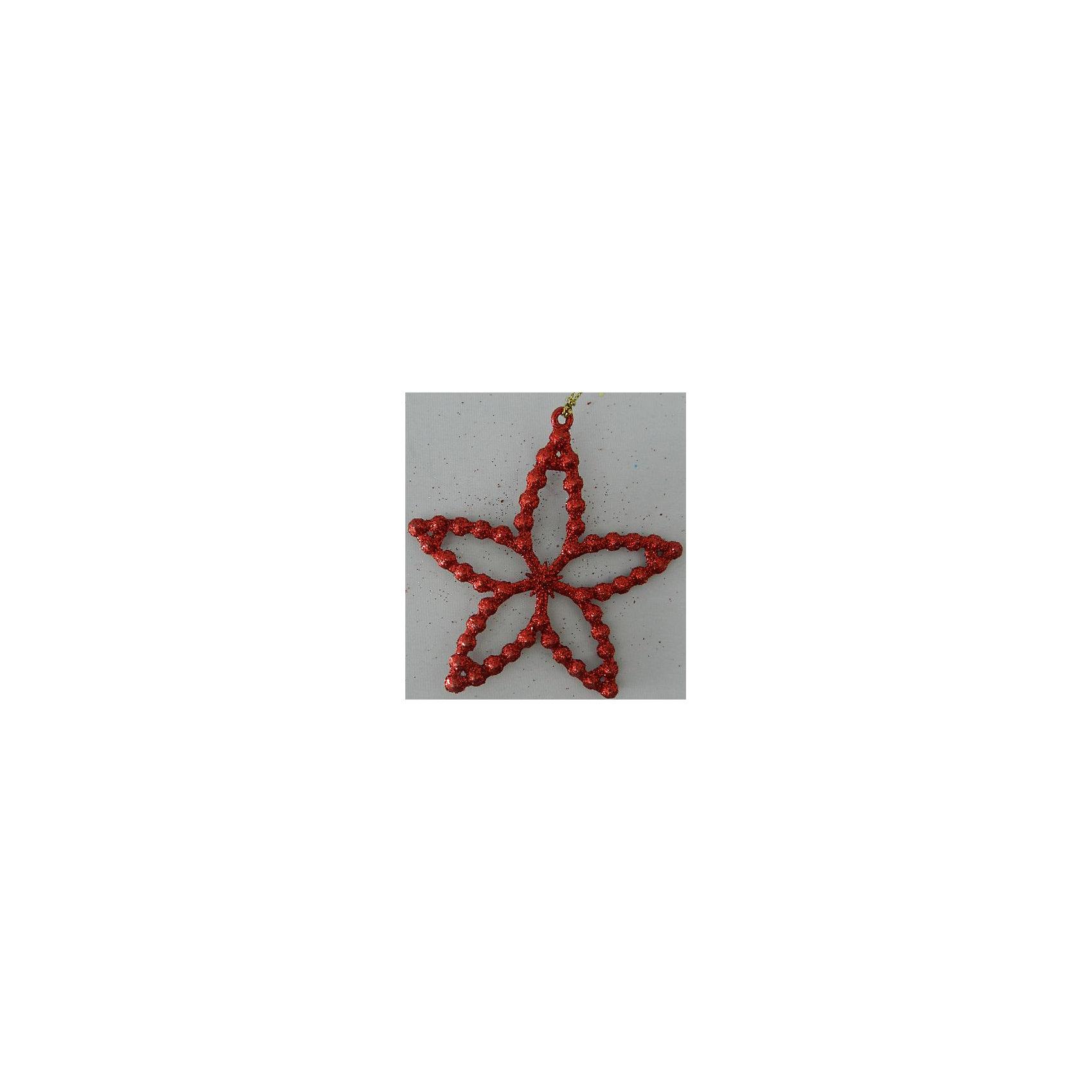 Украшение Красная звездочкаНовый год - самый любимый праздник у многих детей и взрослых. Праздничное настроение создает в первую очередь украшенный дом и, особенно, наряженная ёлка. Будь она из леса или искусственная - такая подвесная игрушка украсит любую!<br>Она сделана из безопасного для детей, прочного, но легкого, материала, поэтому не разобьется, упав на пол. Благодаря расцветке украшение отлично смотрится на ёлке. Создайте с ним праздничное настроение себе и близким!<br><br>Дополнительная информация:<br><br>цвет: красный;<br>материал: полипропилен;<br>размер: 10 см.<br><br>Украшение Красная звездочка можно купить в нашем магазине.<br><br>Ширина мм: 120<br>Глубина мм: 120<br>Высота мм: 60<br>Вес г: 280<br>Возраст от месяцев: 36<br>Возраст до месяцев: 2147483647<br>Пол: Унисекс<br>Возраст: Детский<br>SKU: 4981340