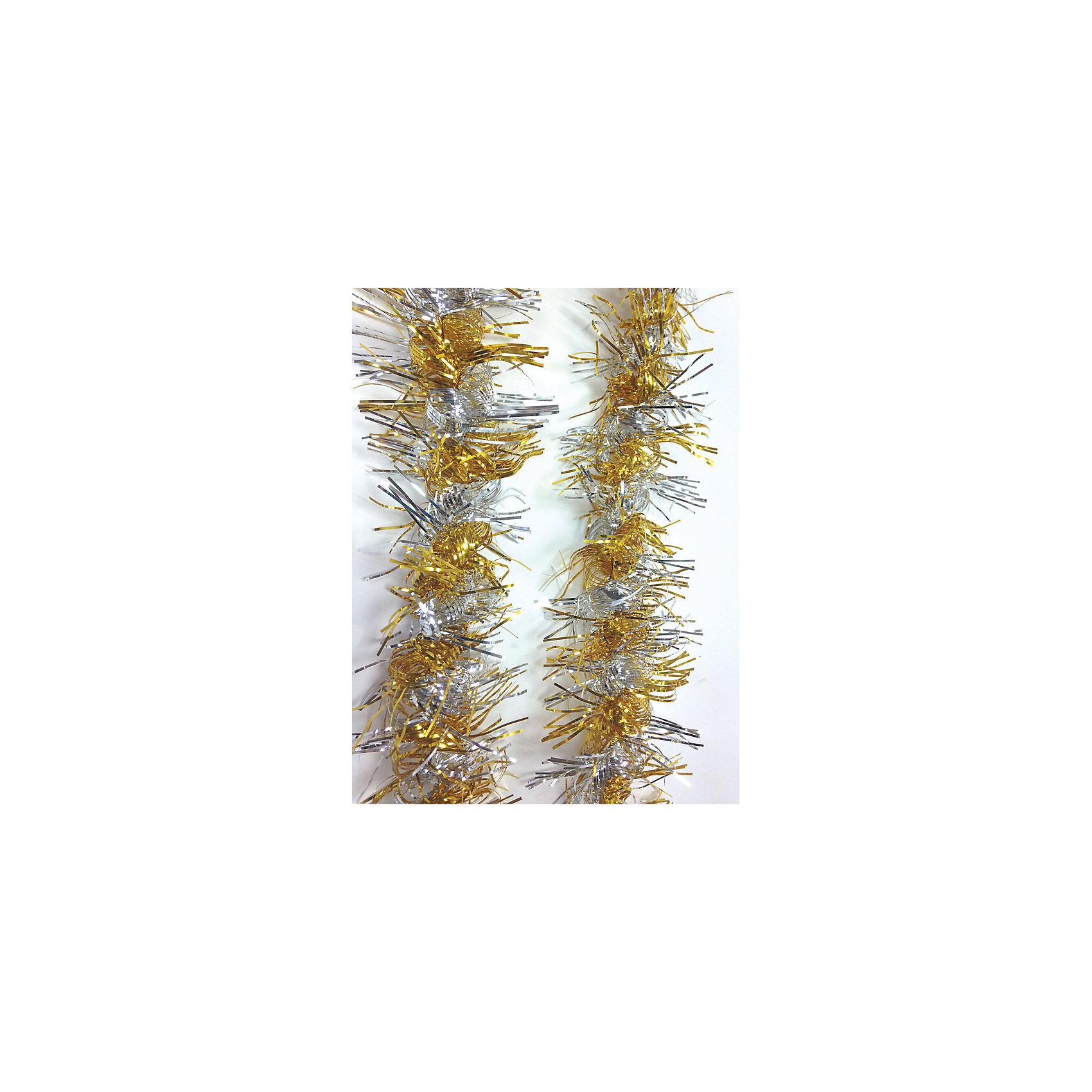 Мишура Серебро и светлое золото 9*200 смМишура - обязательный атрибут Нового года! Особое время - сам праздник и предновогодние хлопоты - ждут не только дети, но и взрослые! Праздничное настроение создает в первую очередь украшенный дом и наряженная ёлка. Будь она из леса или искусственная - такая мишура украсит любую! Также она подходит для украшения дома.<br>Изделие произведено из безопасного для детей, прочного, но легкого, материала, гирлянда красиво мерцает. Благодаря расцветке украшение отлично смотрится на ёлке. Создайте с ним праздничное настроение себе и близким!<br><br>Дополнительная информация:<br><br>цвет: золотой, серебристый;<br>материал: ПЭТ;<br>размер: 9 х 200 см.<br><br>Мишуру Серебро и светлое золото 9*200 см можно купить в нашем магазине.<br><br>Ширина мм: 100<br>Глубина мм: 100<br>Высота мм: 60<br>Вес г: 510<br>Возраст от месяцев: 36<br>Возраст до месяцев: 2147483647<br>Пол: Унисекс<br>Возраст: Детский<br>SKU: 4981363
