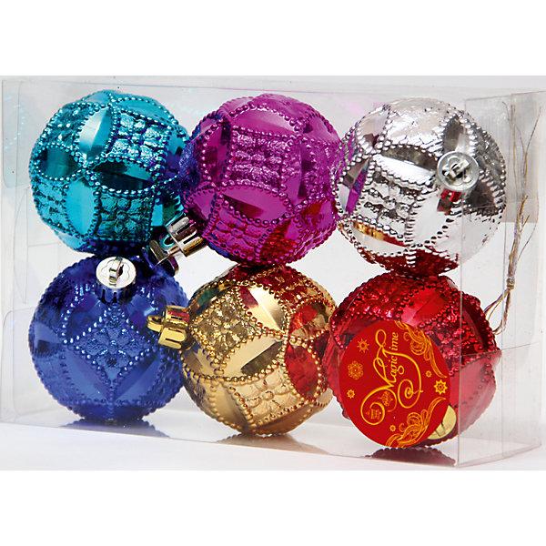 Набор шаров Многоцветие 6 штЁлочные игрушки<br>Новый год - самый любимый праздник у многих детей и взрослых. Праздничное настроение создает в первую очередь украшенный дом и, особенно, наряженная ёлка. Будь она из леса или искусственная - такие подвесные игрушки украсит любую!<br>Они сделаны из безопасного для детей, прочного, но легкого, материала, поэтому не разобьются, упав на пол. Благодаря расцветке украшение отлично смотрится на ёлке. Создайте с ним праздничное настроение себе и близким!<br><br>Дополнительная информация:<br><br>цвет: разноцветный;<br>материал: полистирол;<br>комплектация: 6 шт.<br><br>Набор шаров Многоцветие 6 шт можно купить в нашем магазине.<br><br>Ширина мм: 300<br>Глубина мм: 250<br>Высота мм: 100<br>Вес г: 380<br>Возраст от месяцев: 36<br>Возраст до месяцев: 2147483647<br>Пол: Унисекс<br>Возраст: Детский<br>SKU: 4981377