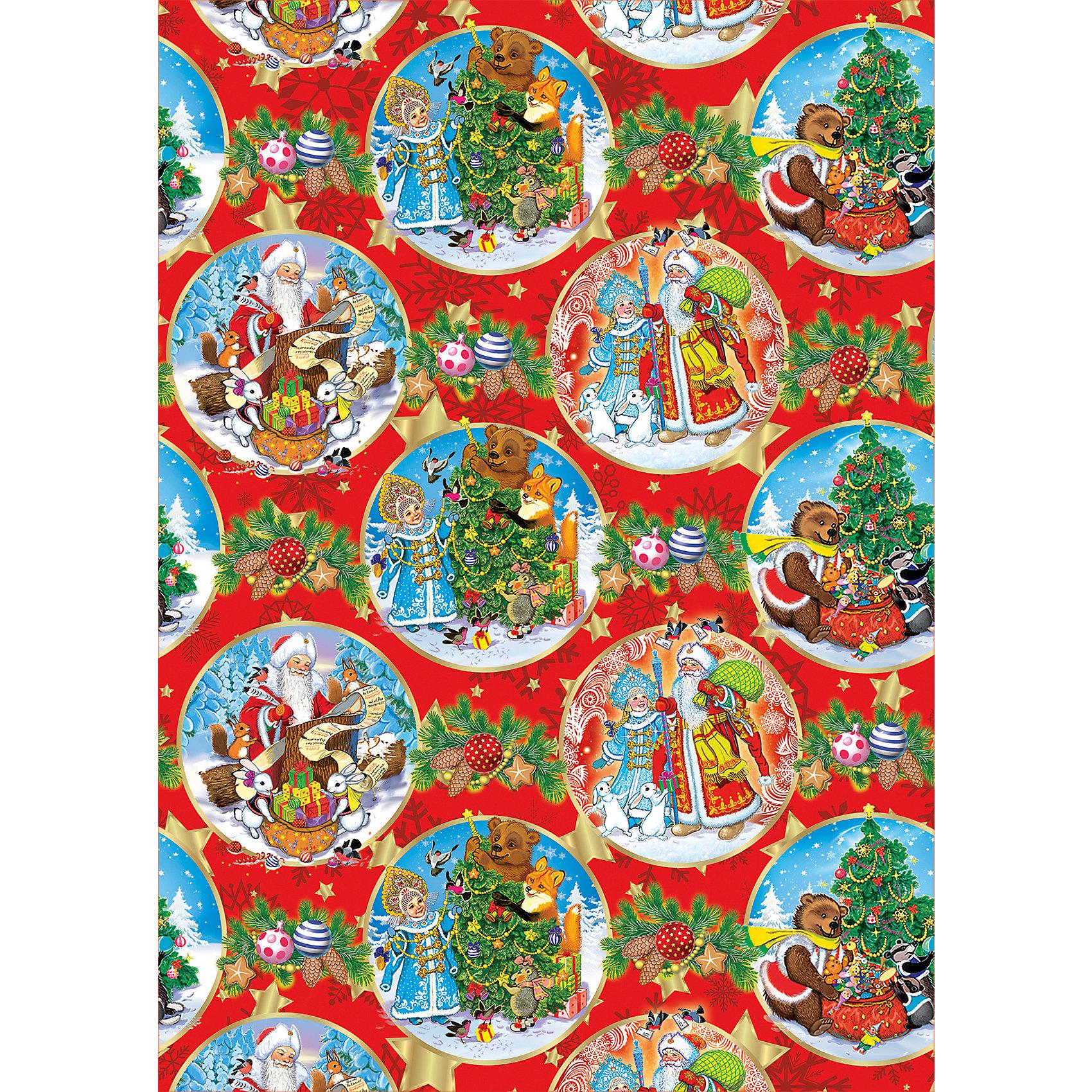 Упаковочная бумага Новый Год 100*70 смВсё для праздника<br>Новый год - самый любимый праздник у многих детей и взрослых.  Праздничное настроение создает украшенный дом, наряженная ёлка, запах мандаринов, предновогодняя суета и, конечно же, подарки! Чтобы сделать момент вручения приятнее, нужна красивая упаковочная бумага.<br>Эта бумага украшена симпатичным универсальным рисунком, поэтому в неё можно упаковать подарок и родственнику, и коллеге. Она сделана из безопасного для детей, прочного, но легкого, материала. Создайте с ней праздничное настроение себе и близким!<br><br>Дополнительная информация:<br><br>плотность: 80 г/м2;<br>размер: 100 х 70 см;<br>в рулоне;<br>украшена рисунком.<br><br>Упаковочную бумагу Новый Год 100*70 см можно купить в нашем магазине.<br><br>Ширина мм: 100<br>Глубина мм: 100<br>Высота мм: 60<br>Вес г: 370<br>Возраст от месяцев: 36<br>Возраст до месяцев: 2147483647<br>Пол: Унисекс<br>Возраст: Детский<br>SKU: 4981387