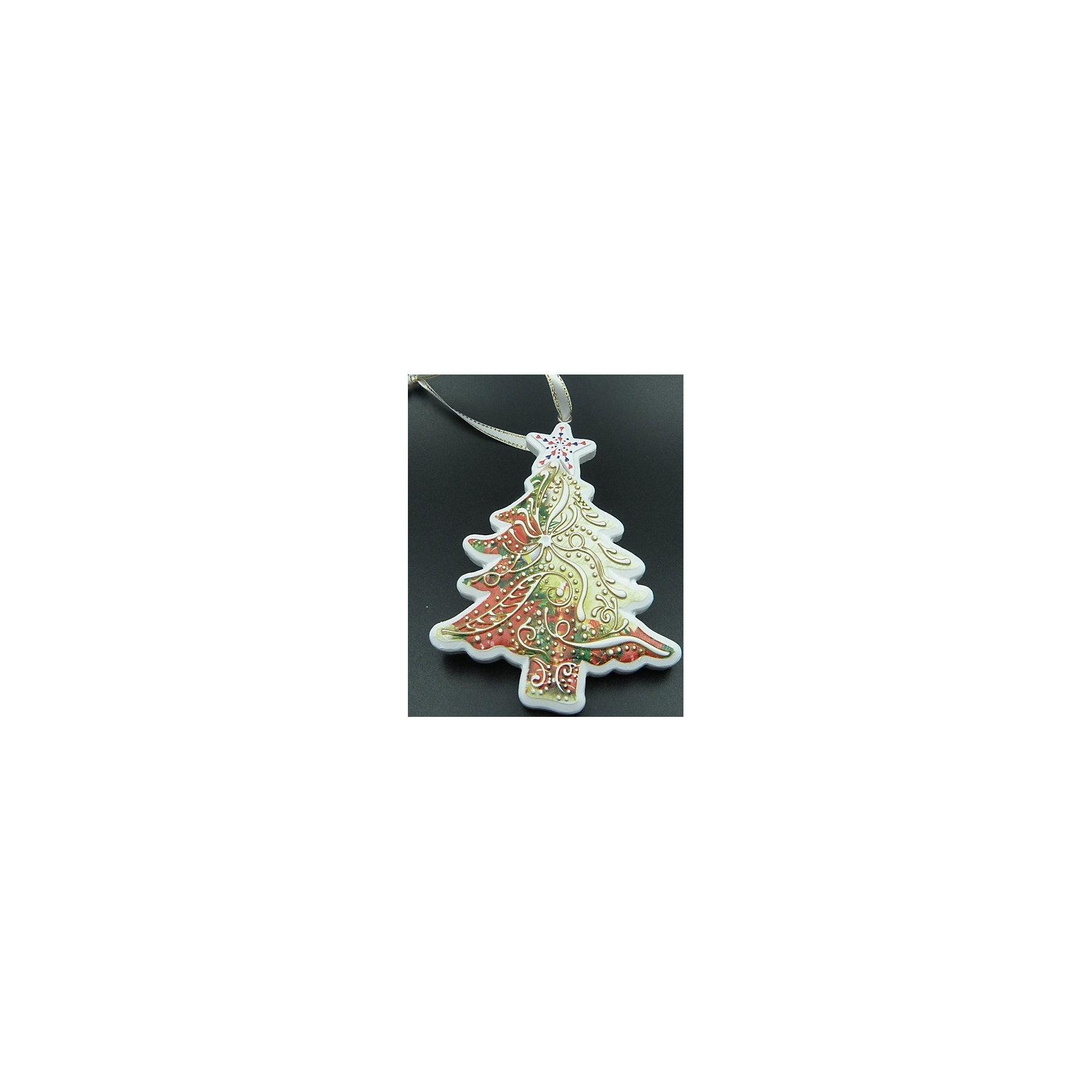 Украшение 8,5*11 смУкрашение 8,5 * 11 см – это красивая, будто пряничная, новогодняя ёлочка для вашей ёлочки. Впустите атмосферу зимы и праздников в ваш дом! С этой декоративной ёлочкой так весело наводить красоту и радовать близких. Подвесное украшение прекрасно подойдет не только для ёлки, но и для украшения штор, стен или даже люстры. Украшение легко крепится с помощью небольшого отверстия у основания, в него можно продеть шнурок, металлическую проволочку или красивую ленту. Размер украшения составляет 8 на 8,5 см. ёлочка представлена в белом цвете с изумрудными, красными и золотыми орнаментами. Ёлочка изготовлена из полирезины и не сможет разбиться, если ее уронить. <br><br>Дополнительная информация:<br>- Размер: 8,5 * 11 см.<br>- Материал: полирезина<br>- Не объемная<br>Украшение 8,5 * 11 см можно купить в нашем интернет-магазине.<br>Подробнее:<br>• Для детей в возрасте: от 3 лет<br>• Номер товара: 4981414<br>Страна производитель: Китай<br><br>Ширина мм: 100<br>Глубина мм: 100<br>Высота мм: 60<br>Вес г: 45<br>Возраст от месяцев: 36<br>Возраст до месяцев: 2147483647<br>Пол: Унисекс<br>Возраст: Детский<br>SKU: 4981414