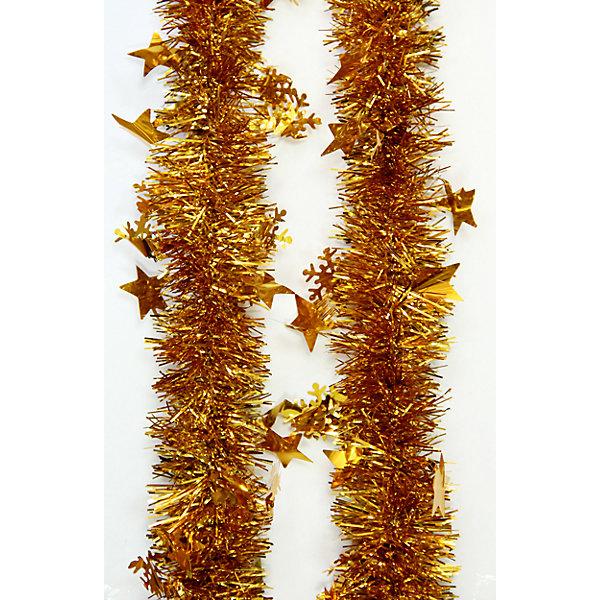 Мишура Золотой 6*200 смНовогодняя мишура и бусы<br>Мишура в золотом цвете отлично подойдет для украшения вашего дома. Она не будет сыпаться, поэтому останется яркой и блестящей и будет радовать вас ещё не один год. <br><br>Характеристика:<br>-Размер: 6 м 200 см<br>-Цвет: золотой<br>-Арт.: 34870<br><br>Мишуру Золотой можно приобрести в нашем интернет-магазине.<br><br>Ширина мм: 100<br>Глубина мм: 100<br>Высота мм: 60<br>Вес г: 44<br>Возраст от месяцев: 36<br>Возраст до месяцев: 2147483647<br>Пол: Унисекс<br>Возраст: Детский<br>SKU: 4981435