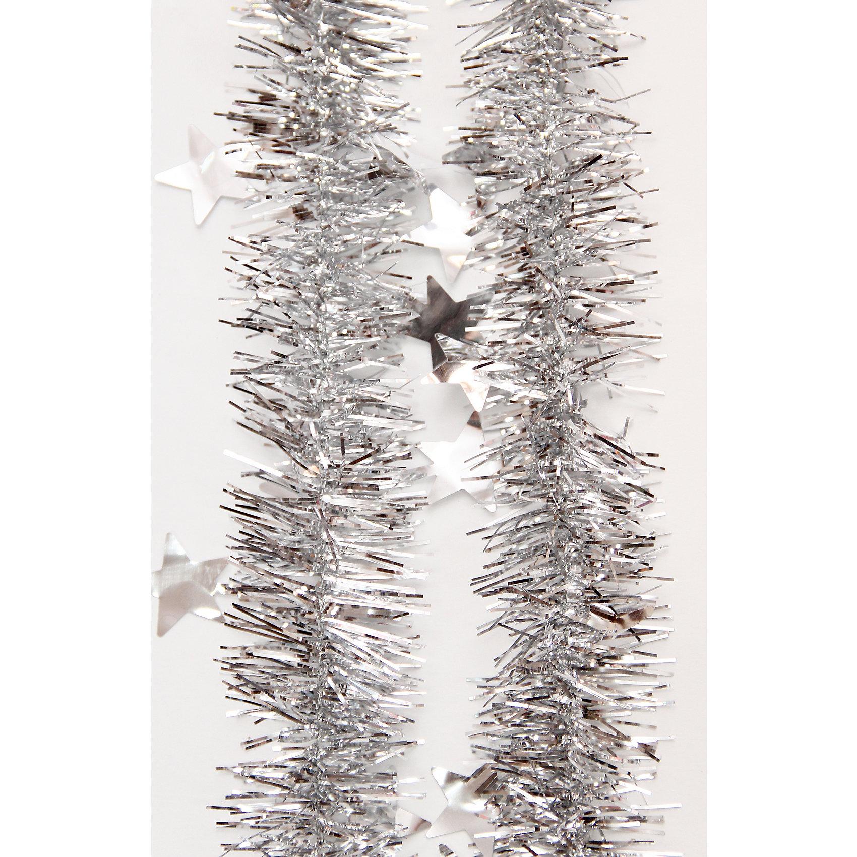 Мишура Серебро 6*200 смМишура в серебряном цвете отлично подойдет для украшения к новому году. Блеск мишуры создает приятную новогоднюю атмосферу.  Она не будет сыпаться, поэтому останется яркой и блестящей и будет радовать вас ещё не один год. <br><br>Характеристика:<br>-Размер: 6 м 200 см<br>-Цвет: серебряный<br>-Арт.: 34898<br><br>Мишуру Серебро можно приобрести в нашем интернет-магазине.<br><br>Ширина мм: 100<br>Глубина мм: 100<br>Высота мм: 60<br>Вес г: 15<br>Возраст от месяцев: 36<br>Возраст до месяцев: 2147483647<br>Пол: Унисекс<br>Возраст: Детский<br>SKU: 4981442