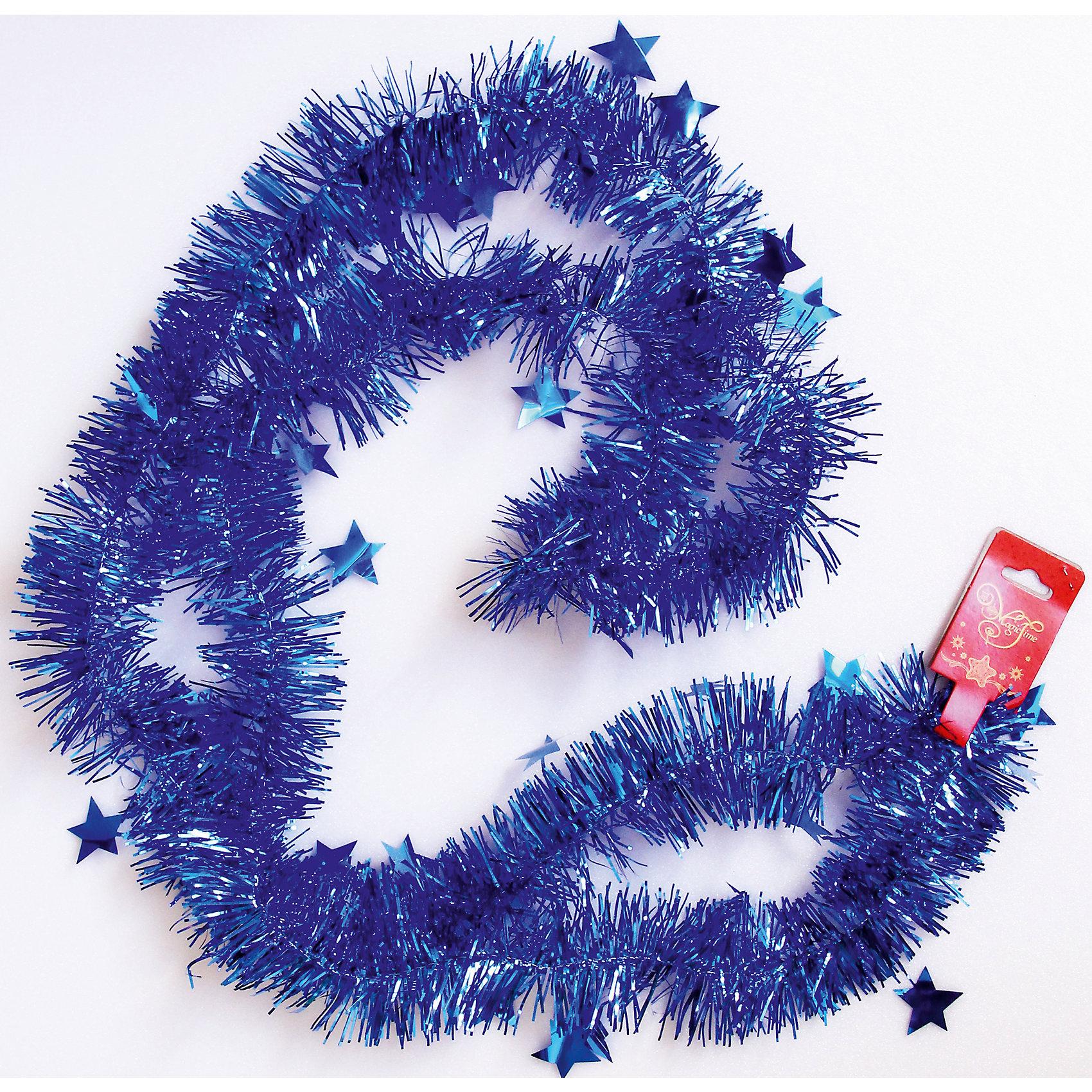 Мишура Синий 6*200 смВсё для праздника<br>Мишура в синий цвете отлично подойдет для украшения к новому году.  Она не будет сыпаться, поэтому останется яркой и блестящей и будет радовать вас ещё не один год. Порадуйте себя и близких красотой и блеском новогодней мишуры в синем цвете.<br><br>Характеристика:<br>-Размер: 6 м 200 см<br>-Цвет: синий<br>-Арт.: 34901<br><br>Мишуру Синий можно приобрести в нашем интернет-магазине.<br><br>Ширина мм: 100<br>Глубина мм: 100<br>Высота мм: 60<br>Вес г: 15<br>Возраст от месяцев: 36<br>Возраст до месяцев: 2147483647<br>Пол: Унисекс<br>Возраст: Детский<br>SKU: 4981445