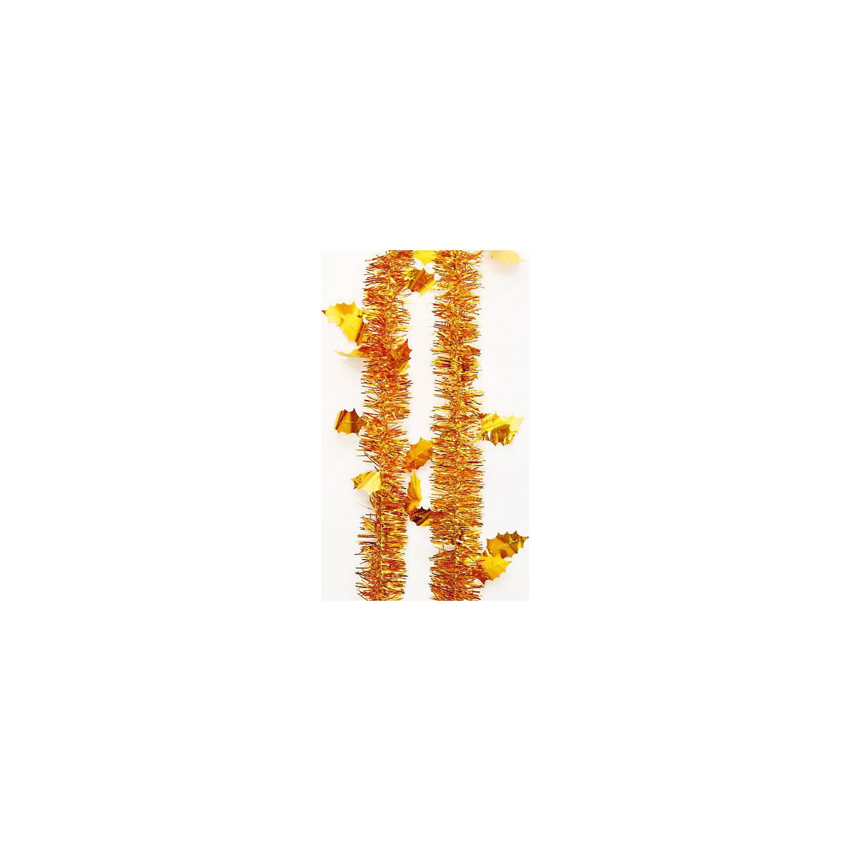 Мишура Золотые листья 6*200 смНовогодняя мишура и бусы<br>Мишура в золотом цвете с листьями отлично подойдет для украшения к новому году. Мишура создаст особую новогоднюю атмосферу, благодаря своему блеску. Она не будет сыпаться, поэтому останется яркой и блестящей и будет радовать вас ещё не один год. <br>Характеристика:<br>-Размер: 6 м 200 см<br>-Цвет: золотой<br>-Арт.: 34902<br><br>Мишуру Золотой с листьями можно приобрести в нашем интернет-магазине.<br><br>Ширина мм: 100<br>Глубина мм: 100<br>Высота мм: 60<br>Вес г: 18<br>Возраст от месяцев: 36<br>Возраст до месяцев: 2147483647<br>Пол: Унисекс<br>Возраст: Детский<br>SKU: 4981446