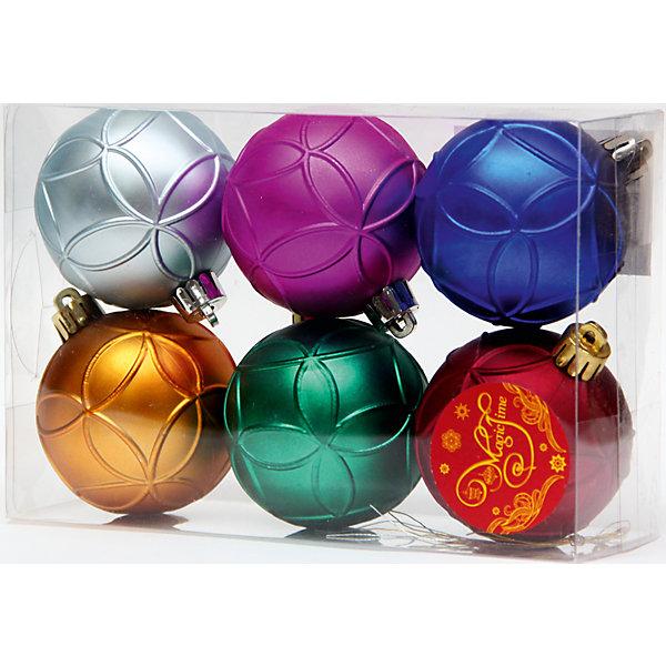 Набор шаров Разноцветное счастье 6 штЁлочные игрушки<br>Новогоднее украшение шаров  Разноцветное счастье  станет отличным украшением для вашей новогодней ёлки. Все шары имеют пеструю окраску и создадут особую атмосферу нового года. Изделия высокого качества, так что будут радовать вас и ваших близких не один год. <br>Характеристика:<br>-Количество: 6 шт.<br>-Арт.: 41945<br><br>Набор шаров Разноцветное счастье можно приобрести в нашем интернет-магазине.<br><br>Ширина мм: 300<br>Глубина мм: 250<br>Высота мм: 100<br>Вес г: 81<br>Возраст от месяцев: 36<br>Возраст до месяцев: 2147483647<br>Пол: Унисекс<br>Возраст: Детский<br>SKU: 4981453