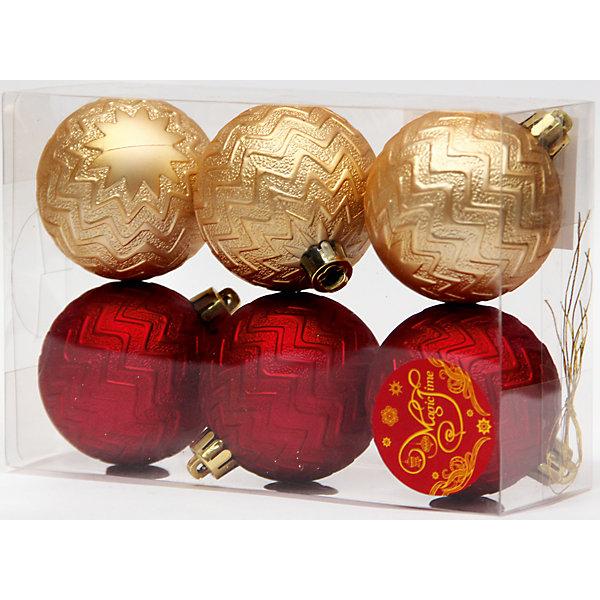 Набор шаров Красные и золотые 6 штЁлочные игрушки<br>Набор шаров Красные и золотые 6 шт - впустите атмосферу зимы и праздников в ваш дом! С этим декоративным украшением так весело наряжать дом и радовать близких. Украшение прекрасно подойдет не только на елочку, но и к другим поверхностям, например стенам или шторам. У каждого шарика имеется отверстие для тонкого шнурка (входит в комплект), с помощью которого шарики можно прикреплять. При желании можно использовать другие шнурки на выбор или тонкую ленту. Одинаковые по структуре шарики разделены на два цвета, которые ярко и гармонично сочетаются друг с другом и помогут создать идеальную композицию. Шарики изготовлены из синтетического материала и не разобьются в случае падения. <br><br>Дополнительная информация:<br>- В комплект входят: 6 шаров, 6 тонких шнурков<br>- Размер: 6 см.<br>- Материал: полистирол<br>- Объемные <br>Набор шаров Красные и золотые 6 шт можно купить в нашем интернет-магазине.<br>Подробнее:<br>• Для детей в возрасте: от 3 лет<br>• Номер товара: 4981455<br>Страна производитель: Китай<br>Ширина мм: 300; Глубина мм: 250; Высота мм: 100; Вес г: 82; Возраст от месяцев: 36; Возраст до месяцев: 2147483647; Пол: Унисекс; Возраст: Детский; SKU: 4981455;
