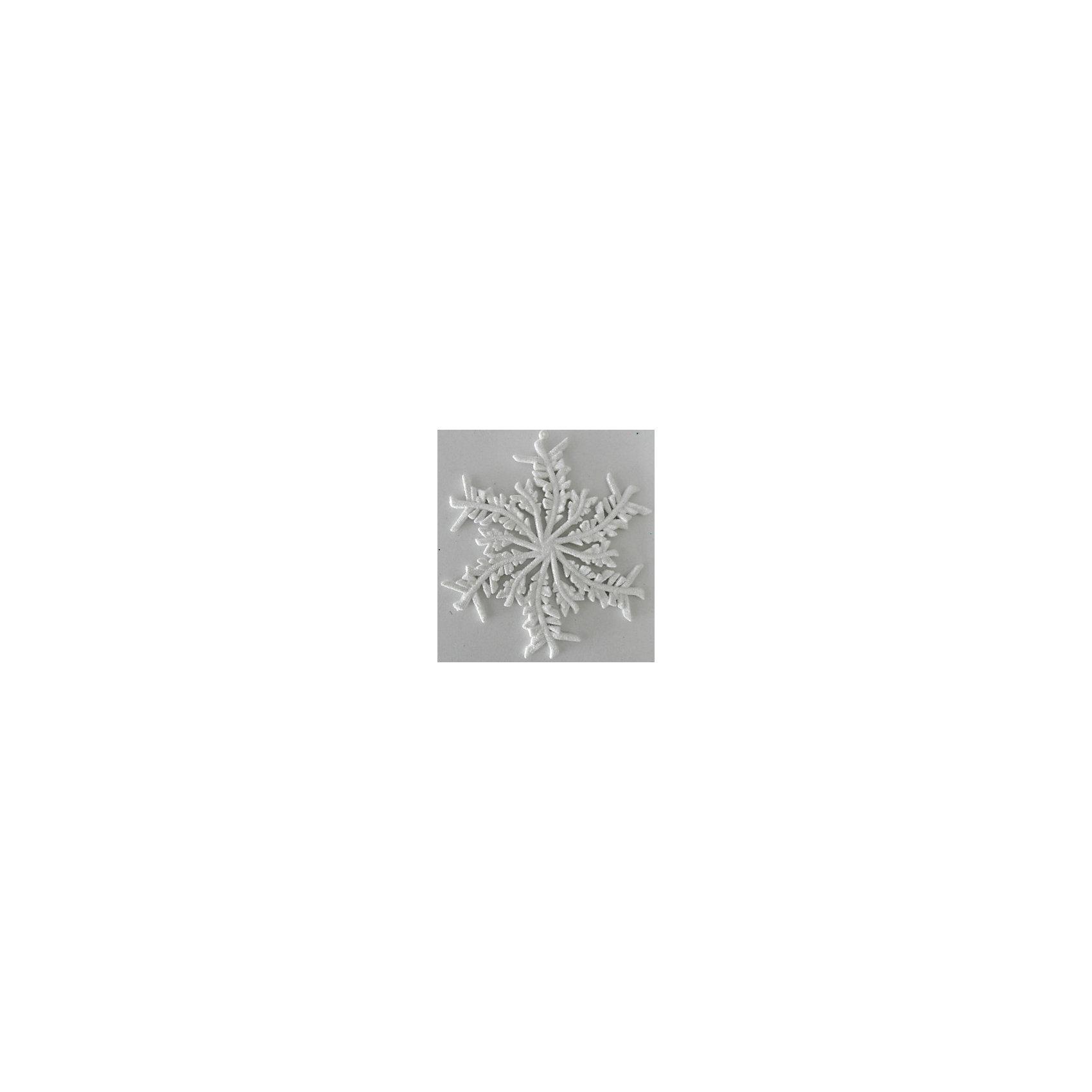 Украшение Белая снежинка 13,5*14 смУкрашение Белая снежинка 13,5*14 см - впустите атмосферу зимы и праздников в ваш дом! С этим декоративным украшением  так весело наряжать дом и радовать близких. Украшение прекрасно подойдет не только на елочку, но и к другим поверхностям, например стенам или шторам. У снежинки имеется отверстие для тонкого шнурка, с помощью которого ее можно прикреплять. При желании можно использовать тонкую ленту. Интересный материал, из которого изготовлена снежинка добавляет ей объемности и реалистичности. Снежинка не разобьется в случае падения. <br><br>Дополнительная информация:<br>- Размер: 13,5 * 14 см.<br>- Материал: полипропилен<br>- Объемная <br>Украшение Белая снежинка 13,5*14 см можно купить в нашем интернет-магазине.<br>Подробнее:<br>• Для детей в возрасте: от 3 лет<br>• Номер товара: 4981456<br>Страна производитель: Китай<br><br>Ширина мм: 100<br>Глубина мм: 100<br>Высота мм: 60<br>Вес г: 28<br>Возраст от месяцев: 36<br>Возраст до месяцев: 2147483647<br>Пол: Унисекс<br>Возраст: Детский<br>SKU: 4981456