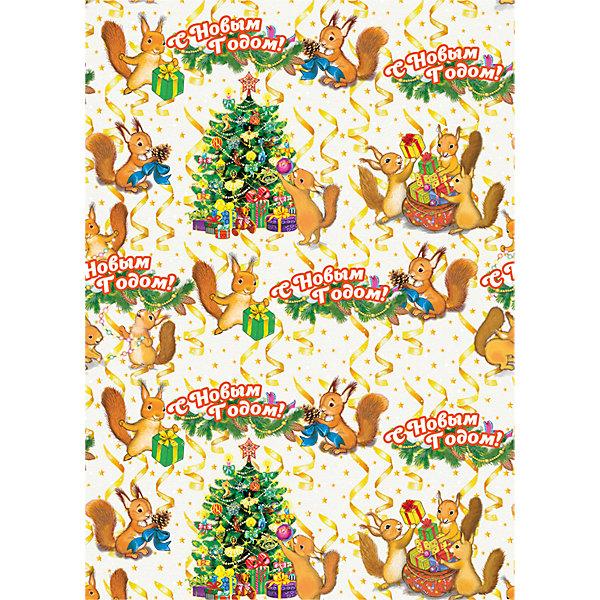 Упаковочная бумага Белочки 100*70 смУпаковка новогоднего подарка<br>Упаковочная бумага Белочки 100*70 см - впустите атмосферу зимы и праздников в ваш дом! С этой декоративной бумагой так весело наряжать подарки и радовать близких. Яркая односторонняя бумага с цветными рисунками озорных белочек, готовящихся к праздникам и надписью «С Новым Годом!» подойдет для любого типа подарков не зависимо от пола и возраста. Упаковочная бумага представлена свернутой в рулон. Подарите сюрприз вашим близким!<br><br>Дополнительная информация:<br><br>- Размер: 100 * 70 см.<br>- Материал: бумага, плотность 80 г/м2 <br>Упаковочную бумагу Белочки 100 * 70 см можно купить в нашем интернет-магазине.<br>Подробнее:<br>• Для детей в возрасте: от 3 лет<br>• Номер товара: 4981462<br>Страна производитель: Китай<br><br>Ширина мм: 100<br>Глубина мм: 100<br>Высота мм: 60<br>Вес г: 62<br>Возраст от месяцев: 36<br>Возраст до месяцев: 2147483647<br>Пол: Унисекс<br>Возраст: Детский<br>SKU: 4981462