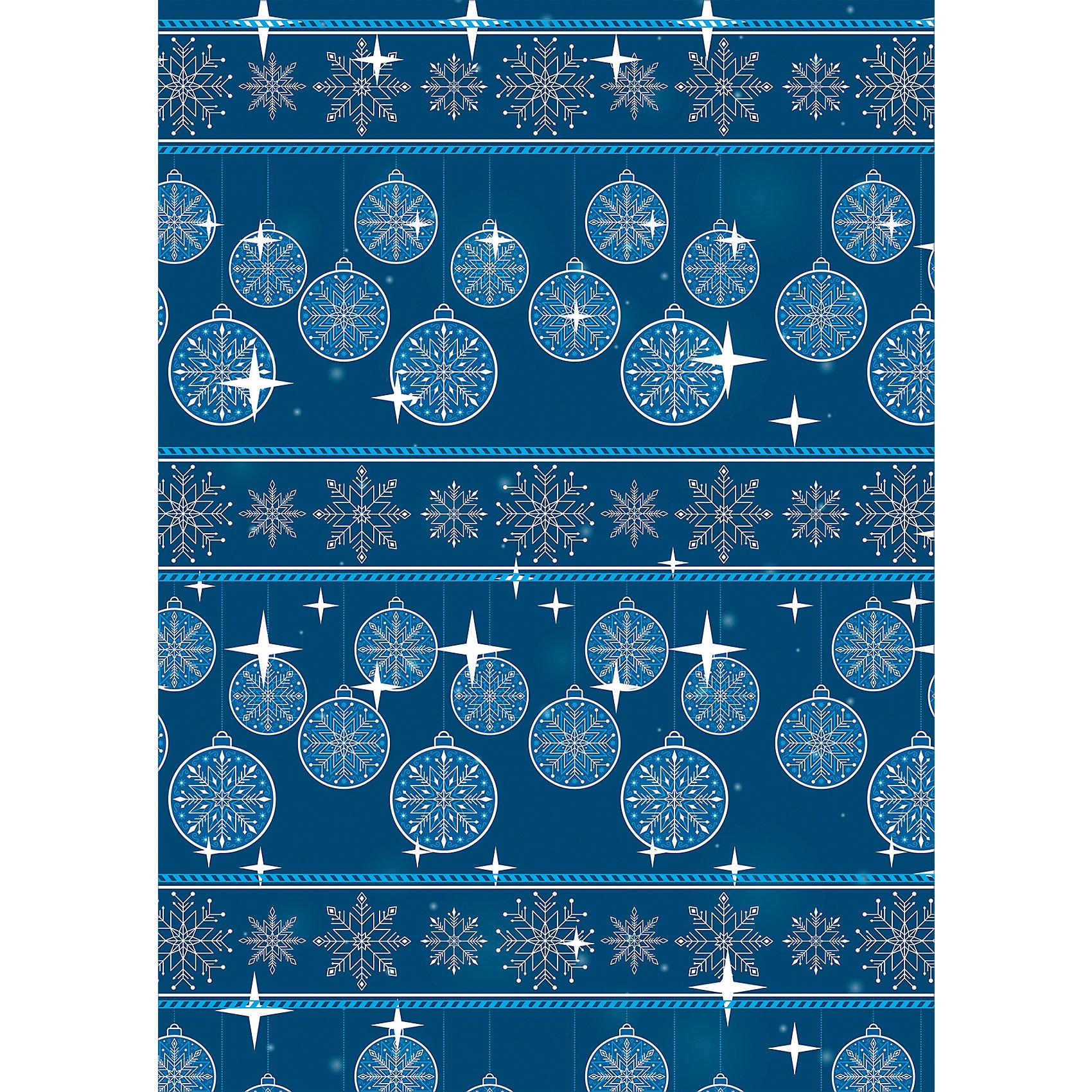 Упаковочная бумага Зимняя ночь 100*70 смУпаковочная бумага Зимняя ночь 100*70 см - впустите атмосферу зимы и праздников в ваш дом! С этой декоративной бумагой так весело наряжать подарки и радовать близких. Яркая односторонняя бумага с цветными рисунками блестящих шариков и снежинок на темно-синем фоне подойдет для любого типа подарков не зависимо от пола и возраста. Упаковочная бумага представлена свернутой в рулон. Подарите сюрприз вашим близким!<br><br>Дополнительная информация:<br><br>- Размер: 100 * 70 см.<br>- Материал: бумага, плотность 80 г/м2 <br>Упаковочную бумагу Зимняя ночь 100 * 70 см можно купить в нашем интернет-магазине.<br>Подробнее:<br>• Для детей в возрасте: от 3 лет<br>• Номер товара: 4981464<br>Страна производитель: Китай<br><br>Ширина мм: 100<br>Глубина мм: 100<br>Высота мм: 60<br>Вес г: 62<br>Возраст от месяцев: 36<br>Возраст до месяцев: 2147483647<br>Пол: Унисекс<br>Возраст: Детский<br>SKU: 4981464