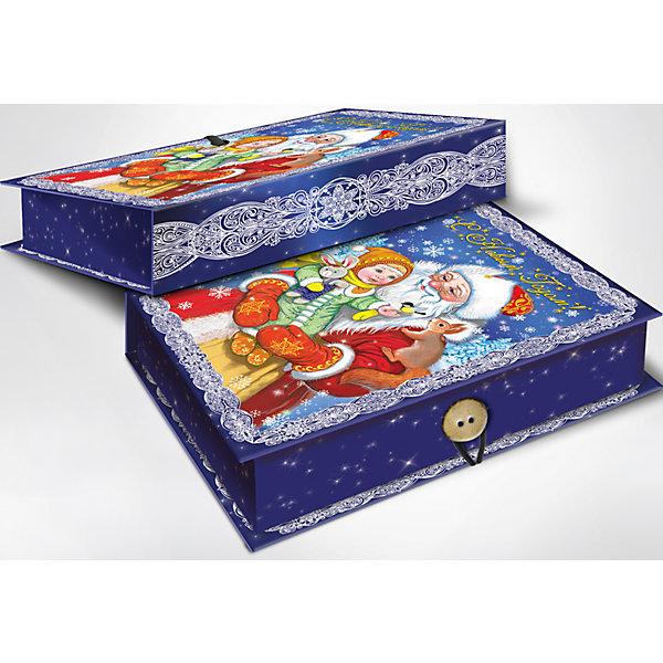 Подарочная коробка Дедушка Мороз и девочка 20*14*6 смНовогодние коробки<br>Подарочная коробка Дедушка Мороз и девочка 20 * 14 * 6 см - впустите атмосферу зимы и праздников в ваш дом! С этой подарочной коробкой так весело наряжать подарки и радовать близких. Картонная коробка выглядит как книга и имеет яркую обложку с цветными рисунками деда Мороза и маленькой девочки на руках. На корешке изображены ажурные морозные узоры праздничном ночном фоне со звездочками и снежинками. На лицевой стороне коробки изображена надпись «С Новым Годом», она закрывается на небольшой эластичный шнурок и пуговичку. Устройте сюрприз вашим близким!<br>Дополнительная информация:<br><br>- Размер: 20 * 14 * 6 см.<br>- Материал: картон плотностью 1100 г/м2<br>Подарочную коробку Дедушка Мороз и девочка 20 * 14 * 6 см можно купить в нашем интернет-магазине.<br>Подробнее:<br>• Для детей в возрасте: от 3 лет<br>• Номер товара: 4981487<br>Страна производитель: Китай<br><br>Ширина мм: 200<br>Глубина мм: 140<br>Высота мм: 60<br>Вес г: 330<br>Возраст от месяцев: 36<br>Возраст до месяцев: 2147483647<br>Пол: Унисекс<br>Возраст: Детский<br>SKU: 4981487