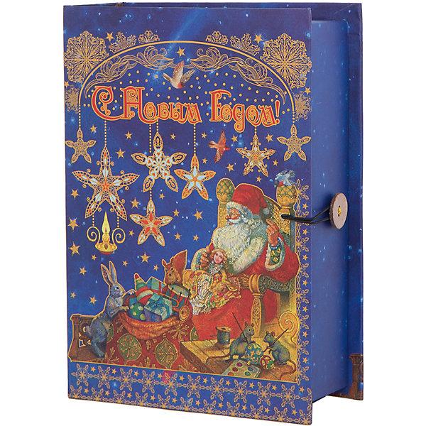 Подарочная коробка Мастерская Деда Мороза 20*14*6 смНовогодние коробки<br>Подарочная коробка Мастерская Деда Мороза 20 * 14 * 6 см - впустите атмосферу зимы и праздников в ваш дом! С этой подарочной коробкой так весело наряжать подарки и радовать близких. Картонная коробка выглядит как книга и имеет яркую обложку с цветными рисунками деда Мороза, собирающего подарки вместе с маленькими зверятами. На корешке изображены ажурные золотые узоры праздничном ночном фоне со звездочками и снежинками. На лицевой стороне коробки изображена надпись «С Новым Годом», она закрывается на небольшой эластичный шнурок и пуговичку. Устройте сюрприз вашим близким!<br>Дополнительная информация:<br><br>- Размер: 20 * 14 * 6 см.<br>- Материал: картон плотностью 1100 г/м2<br>Подарочную коробку Мастерская Деда Мороза 20 * 14 * 6 см можно купить в нашем интернет-магазине.<br>Подробнее:<br>• Для детей в возрасте: от 3 лет<br>• Номер товара: 4981488<br>Страна производитель: Китай<br><br>Ширина мм: 200<br>Глубина мм: 140<br>Высота мм: 60<br>Вес г: 330<br>Возраст от месяцев: 36<br>Возраст до месяцев: 2147483647<br>Пол: Унисекс<br>Возраст: Детский<br>SKU: 4981488