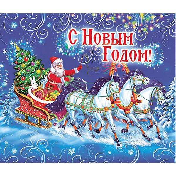 Магнит Дед Мороз на тройке