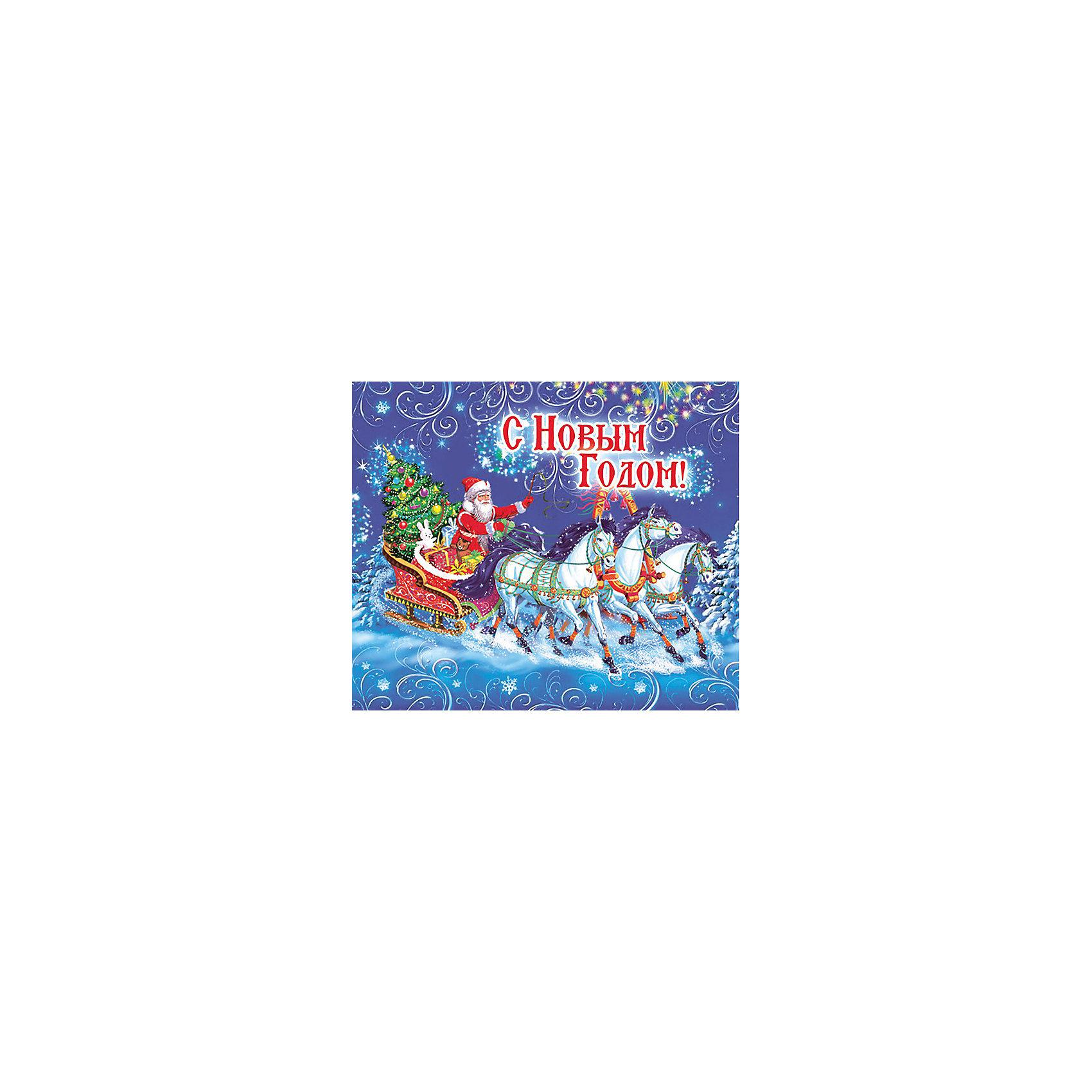 Magic Time Магнит Дед Мороз на тройке magic time магнит дед мороз и дети