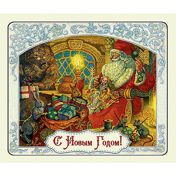 Магнит Мастерская Деда МорозаНовогодние сувениры<br>Магнит Мастерская Деда Мороза - впустите атмосферу зимы и праздников в ваш дом! С этим подарочным магнитом так весело наряжать дом и радовать близких. Небольшой прямоугольный магнитик с закругленными углами смотрится как полноценная небольшая картинка. На магните изображен дом дедушки Мороз и звери, помогающие ему делать подарки для детишек. На магните также изображена ажурная надпись «С Новым Годом». Устройте сюрприз вашим близким!<br>Дополнительная информация:<br><br>- Размер: 5 * 6 см.<br>- Материал: агломеррированный феррит<br>Магнит Мастерская Деда Мороза можно купить в нашем интернет-магазине.<br>Подробнее:<br>• Для детей в возрасте: от 3 лет<br>• Номер товара: 4981496<br>Страна производитель: Китай<br><br>Ширина мм: 100<br>Глубина мм: 100<br>Высота мм: 10<br>Вес г: 150<br>Возраст от месяцев: 36<br>Возраст до месяцев: 2147483647<br>Пол: Унисекс<br>Возраст: Детский<br>SKU: 4981496
