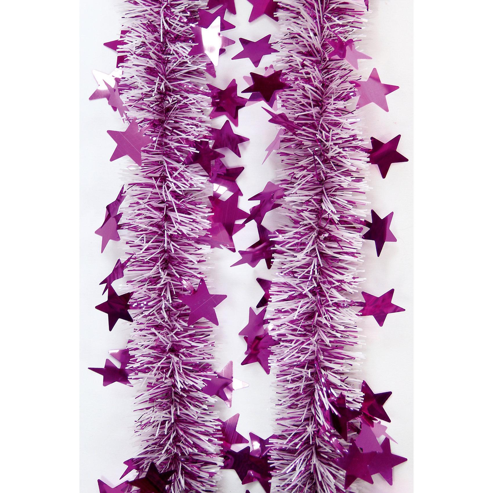 Мишура Розовый 6*200 смВсё для праздника<br>Мишура Розовый 6*200 см – этот новогодний аксессуар принесет в ваш дом ни с чем несравнимое ощущение праздника!<br>Пушистая новогодняя мишура розового цвета, декорированная звездочками, поможет вам украсить свой дом к предстоящим праздникам. Мишурой можно украсить все, что угодно - елку, квартиру, дачу, офис - как внутри, так и снаружи. Можно сложить новогодние поздравления, буквы и цифры, дополнить гирлянды, выделить дверные колонны или оплести дверные проемы. Искрящаяся мишура создаст множество ярких бликов, наполнит дом атмосферой волшебства и магии!<br><br>Дополнительная информация:<br><br>- Размер: 6х200 см.<br>- Материал: ПЭТ (полиэтилентерефталат)<br>- Цвет: розовый<br><br>Мишуру Розовый 6*200 см можно купить в нашем интернет-магазине.<br><br>Ширина мм: 100<br>Глубина мм: 100<br>Высота мм: 60<br>Вес г: 620<br>Возраст от месяцев: 36<br>Возраст до месяцев: 2147483647<br>Пол: Унисекс<br>Возраст: Детский<br>SKU: 4981508