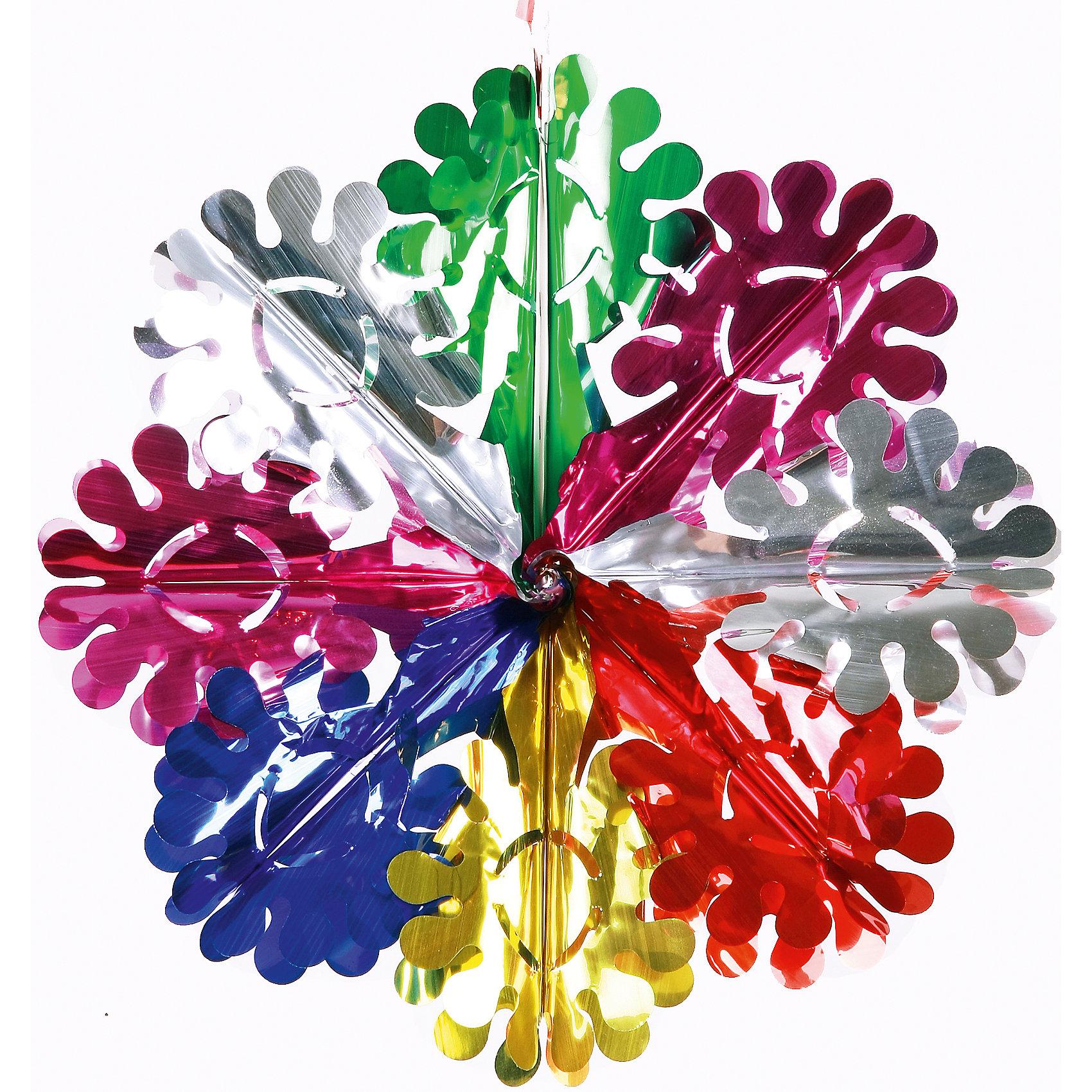 Гирлянда Ажурная снежинка 14*20 смВсё для праздника<br>Гирлянда Ажурная снежинка 14*20 см - это новогоднее украшение замечательно дополнит праздничный интерьер.<br>Роскошная объемная ажурная снежинка украсит интерьер вашего дома или офиса в преддверии Нового года. Оригинальный дизайн и красочное исполнение создадут праздничное настроение. Новогодние украшения всегда несут в себе волшебство и красоту праздника. Создайте в своем доме атмосферу тепла, веселья и радости, украшая его всей семьей.<br><br>Дополнительная информация:<br><br>- Размер: 14х20 см.<br>- Материал: ПЭТ (полиэтилентерефталат)<br><br>Гирлянду Ажурная снежинка 14*20 см можно купить в нашем интернет-магазине.<br><br>Ширина мм: 100<br>Глубина мм: 100<br>Высота мм: 60<br>Вес г: 260<br>Возраст от месяцев: 36<br>Возраст до месяцев: 2147483647<br>Пол: Унисекс<br>Возраст: Детский<br>SKU: 4981525