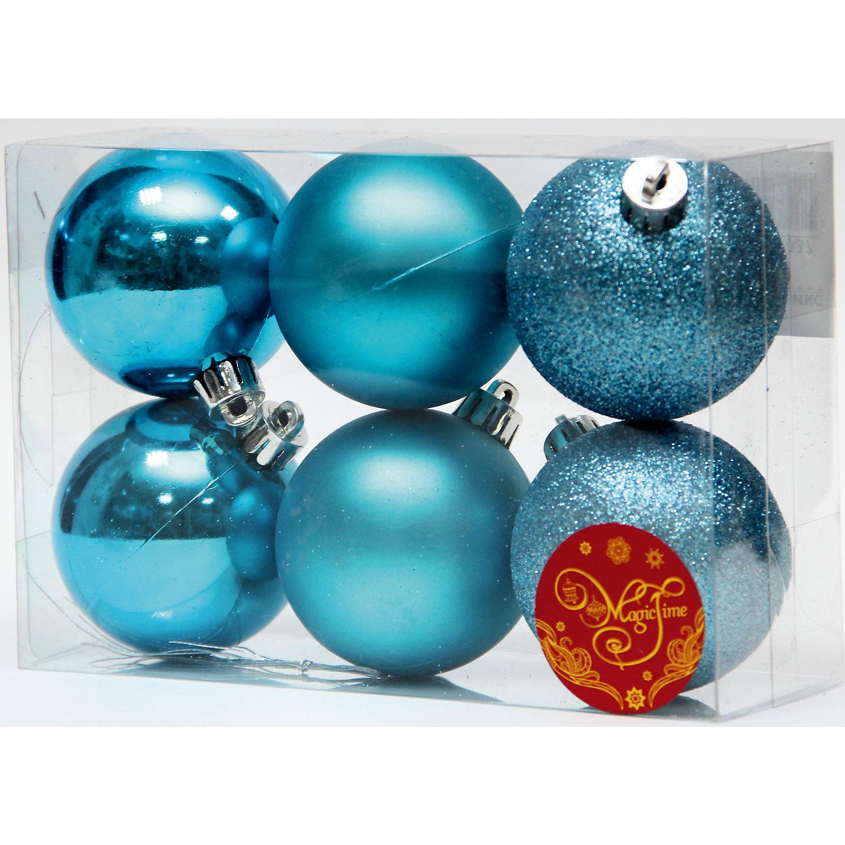 Набор шаров Бирюзовый блеск 6 штВсё для праздника<br>Набор шаров Бирюзовый блеск 6 шт – этот набор принесет в ваш дом ни с чем несравнимое ощущение праздника!<br>Набор новогодних подвесных украшений Бирюзовый блеск прекрасно подойдет для праздничного декора вашей ели. Набор состоит из 6 шаров бирюзового цвета, изготовленных из полистирола, - 2 матовых, 2 глянцевых, 2 покрытых глиттером. Для удобного размещения на елке для каждого шара предусмотрена петелька. Елочная игрушка - символ Нового года. Она несет в себе волшебство и красоту праздника. Создайте в своем доме атмосферу веселья и радости, украшая новогоднюю елку нарядными игрушками, которые будут из года в год накапливать теплоту воспоминаний. Откройте для себя удивительный мир сказок и грез. Почувствуйте волшебные минуты ожидания праздника, создайте новогоднее настроение вашим близким.<br><br>Дополнительная информация:<br><br>- В наборе: 6 шаров<br>- Материал: полистирол<br>- Цвет: бирюзовый<br>- Размер упаковки: 18 х 12 х 6 см.<br><br>Набор шаров Бирюзовый блеск 6 шт можно купить в нашем интернет-магазине.<br><br>Ширина мм: 300<br>Глубина мм: 250<br>Высота мм: 100<br>Вес г: 570<br>Возраст от месяцев: 36<br>Возраст до месяцев: 2147483647<br>Пол: Унисекс<br>Возраст: Детский<br>SKU: 4981535