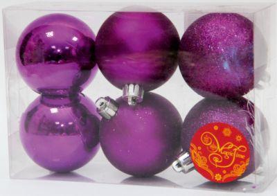 Magic Time Набор шаров Пурпурный блеск 6 шт фото-1